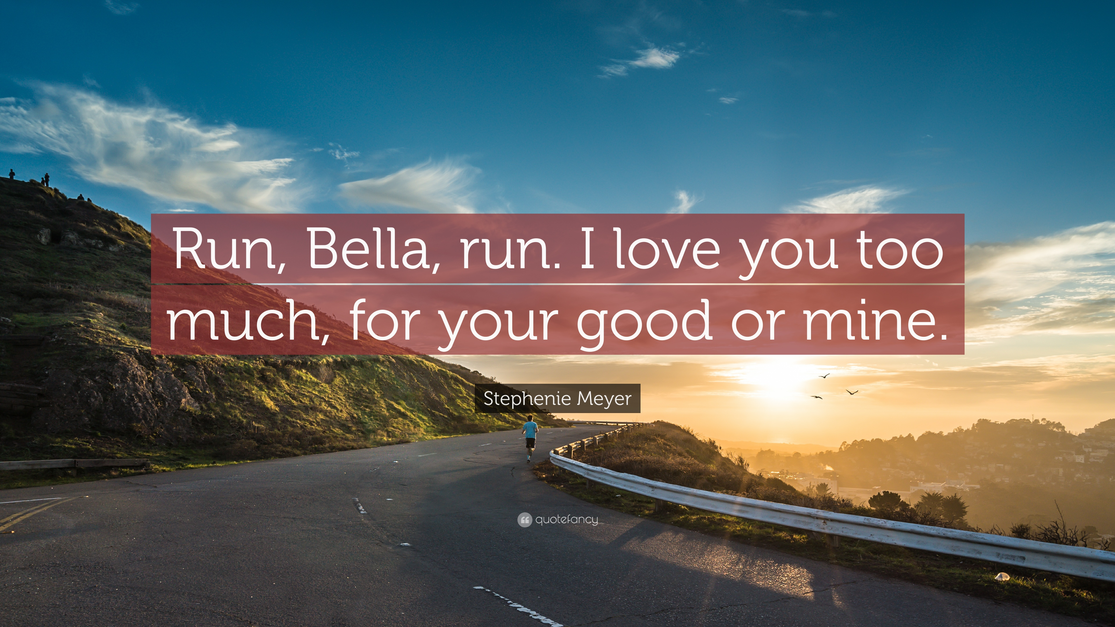 Stephenie Meyer Quote Run Bella Run I Love You Too Much For