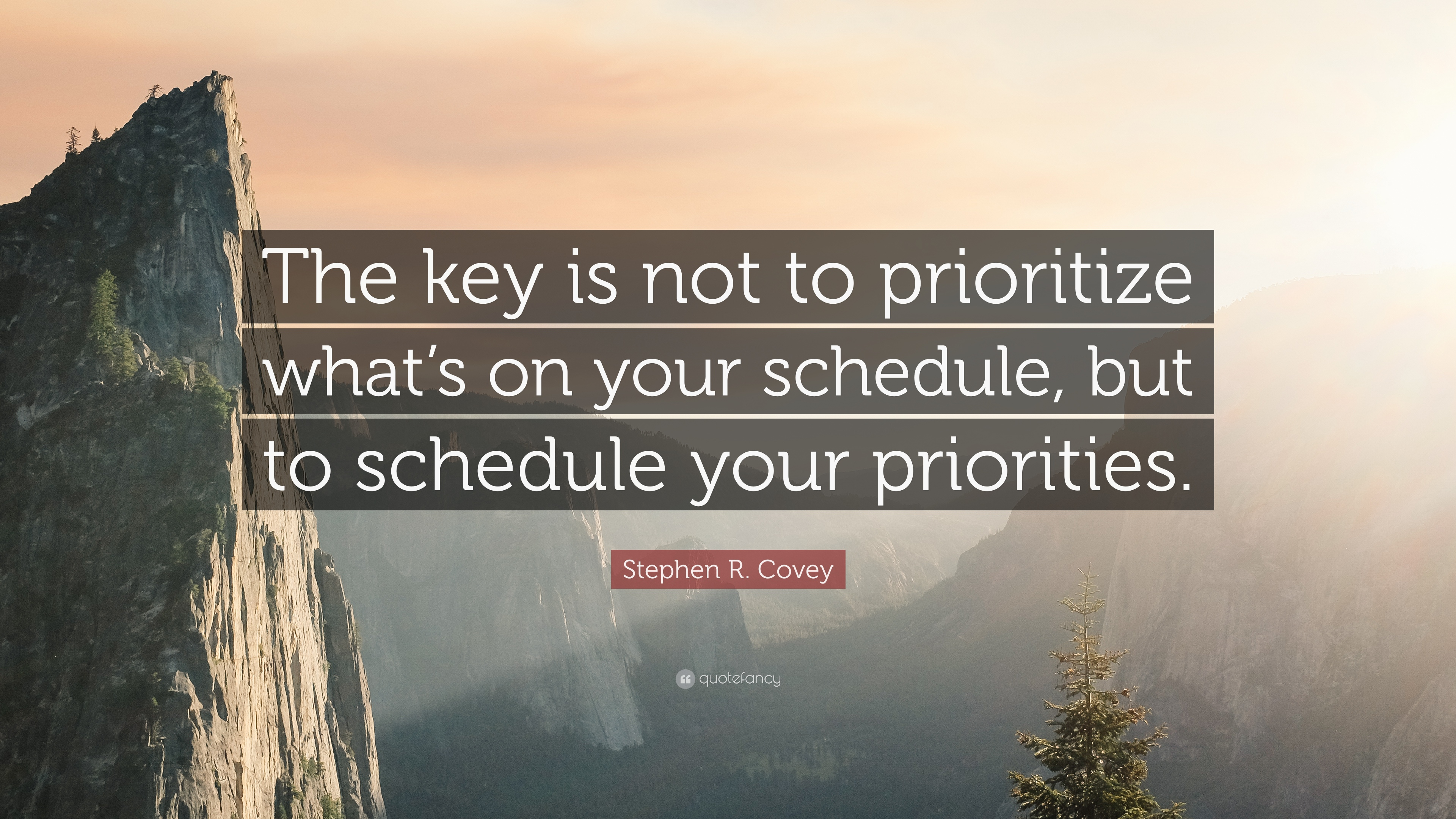 """Elon Musk Quotes >> Stephen R. Covey Quote: """"The key is not to prioritize what ..."""