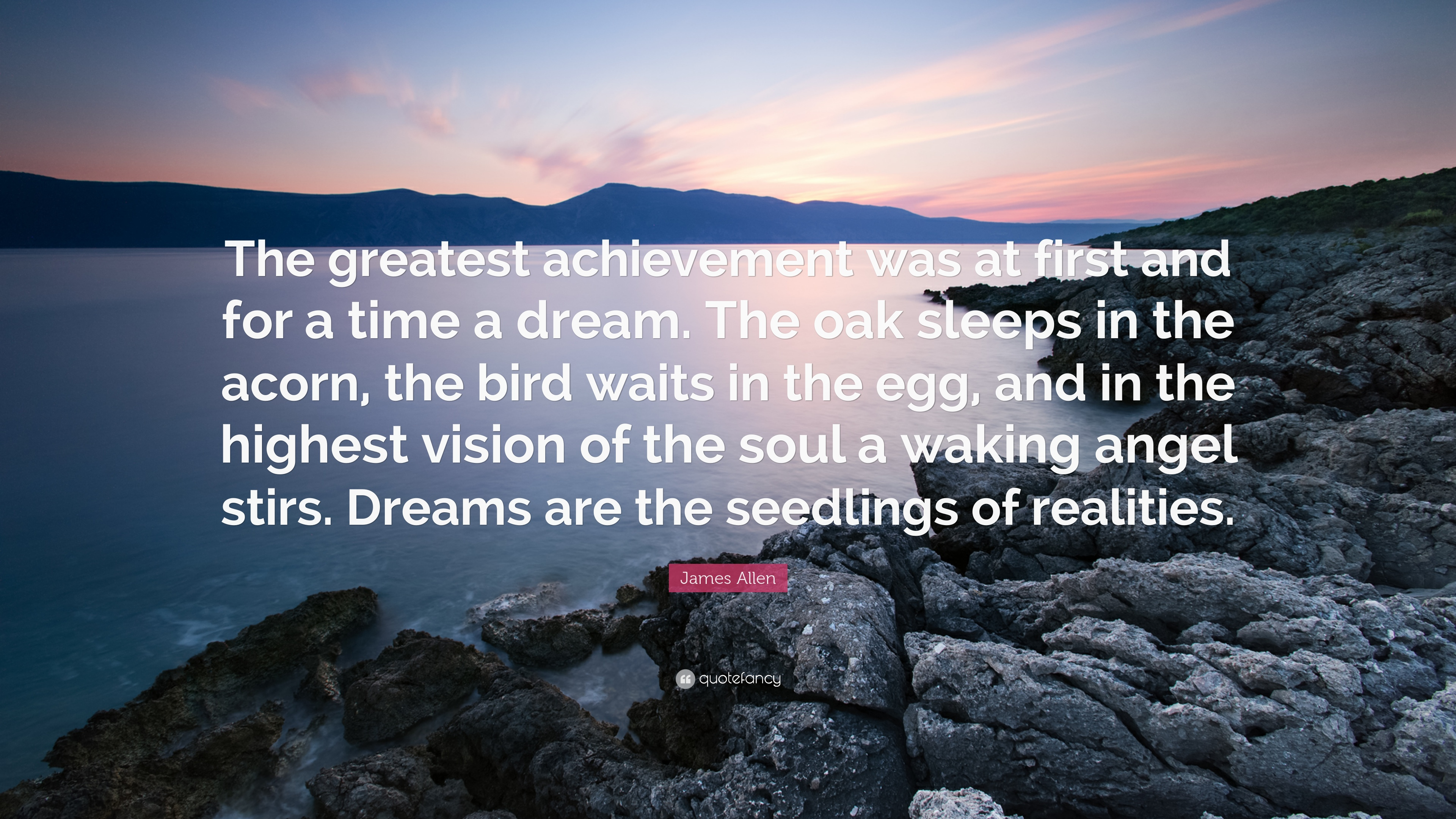 jim goodwin achievement of dreams If you want to make your dreams come true, the first thing you have to do is wake up jm power  jim goodwin the vision must be followed by the venture it is not enough to stare up the steps - we must step up the stairs  part of the issue of achievement is to be able to set realistic goals, but that's one of the hardest things to do.