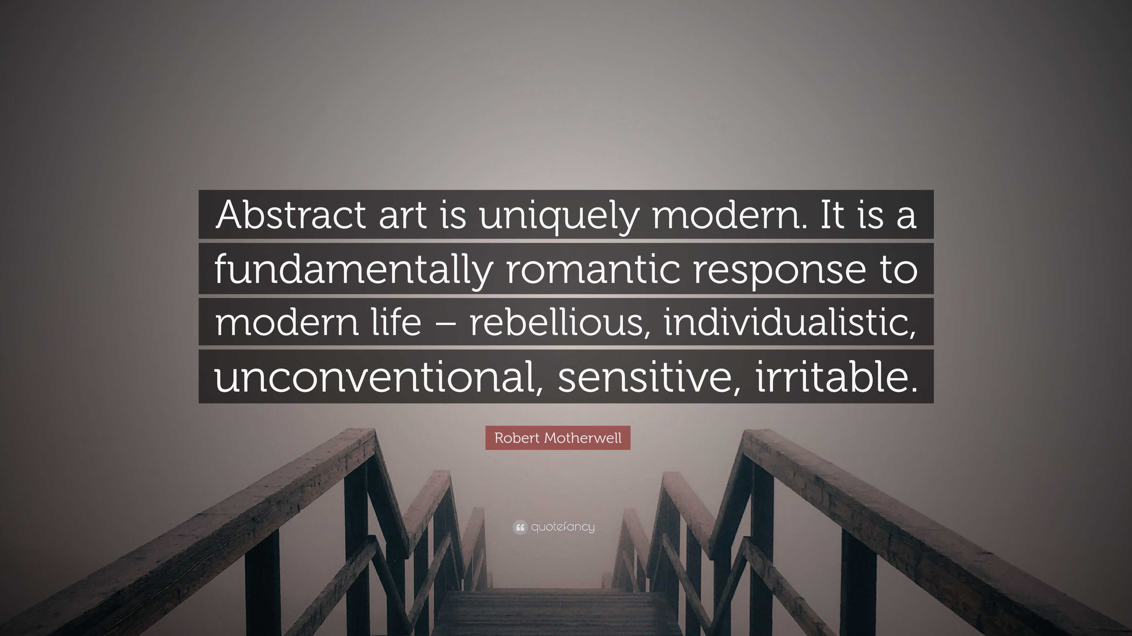 abstract art is fundamentally