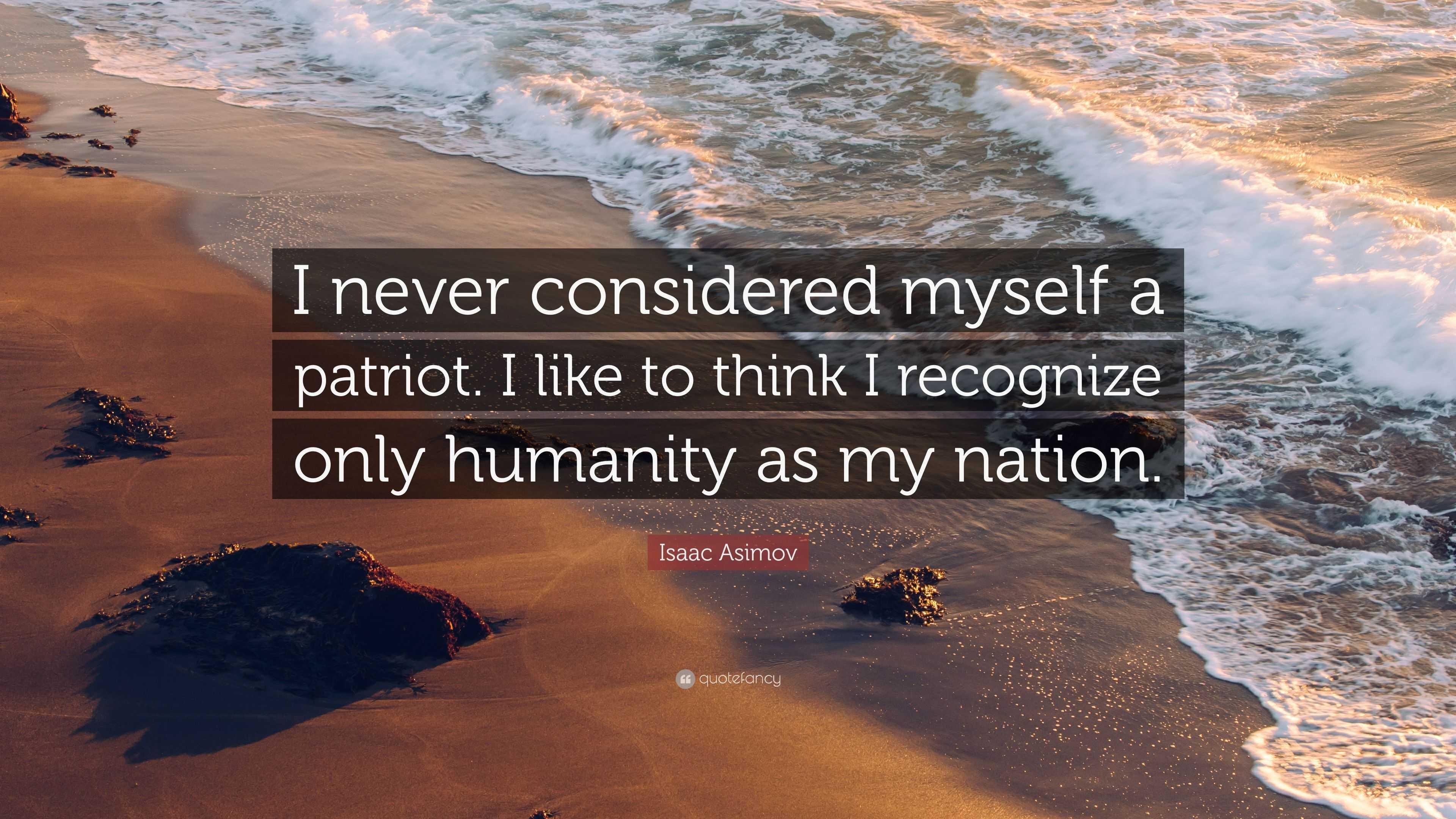 Do you consider yourself a patriot