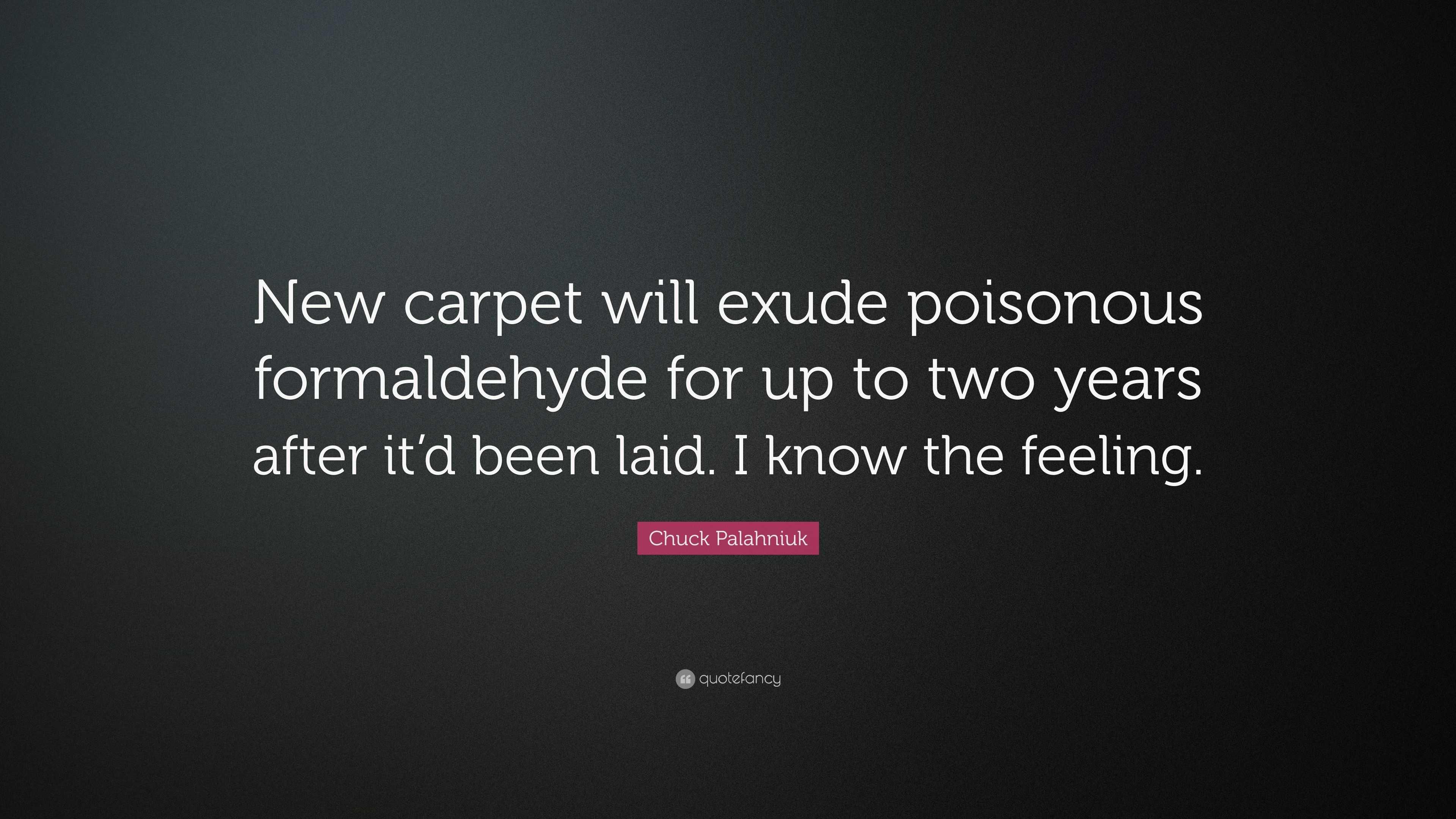 Formaldehyde Carpet Oropendolaperuorg