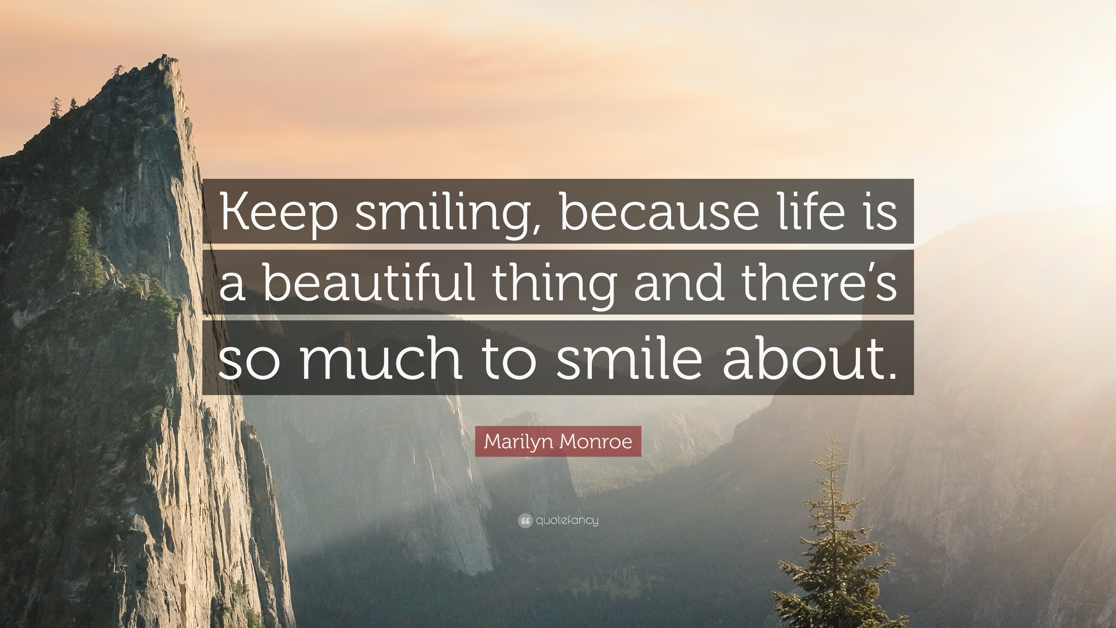 Marilyn Monroe Quote: U201cKeep Smiling, Because Life Is A Beautiful Thing And  Thereu0027s