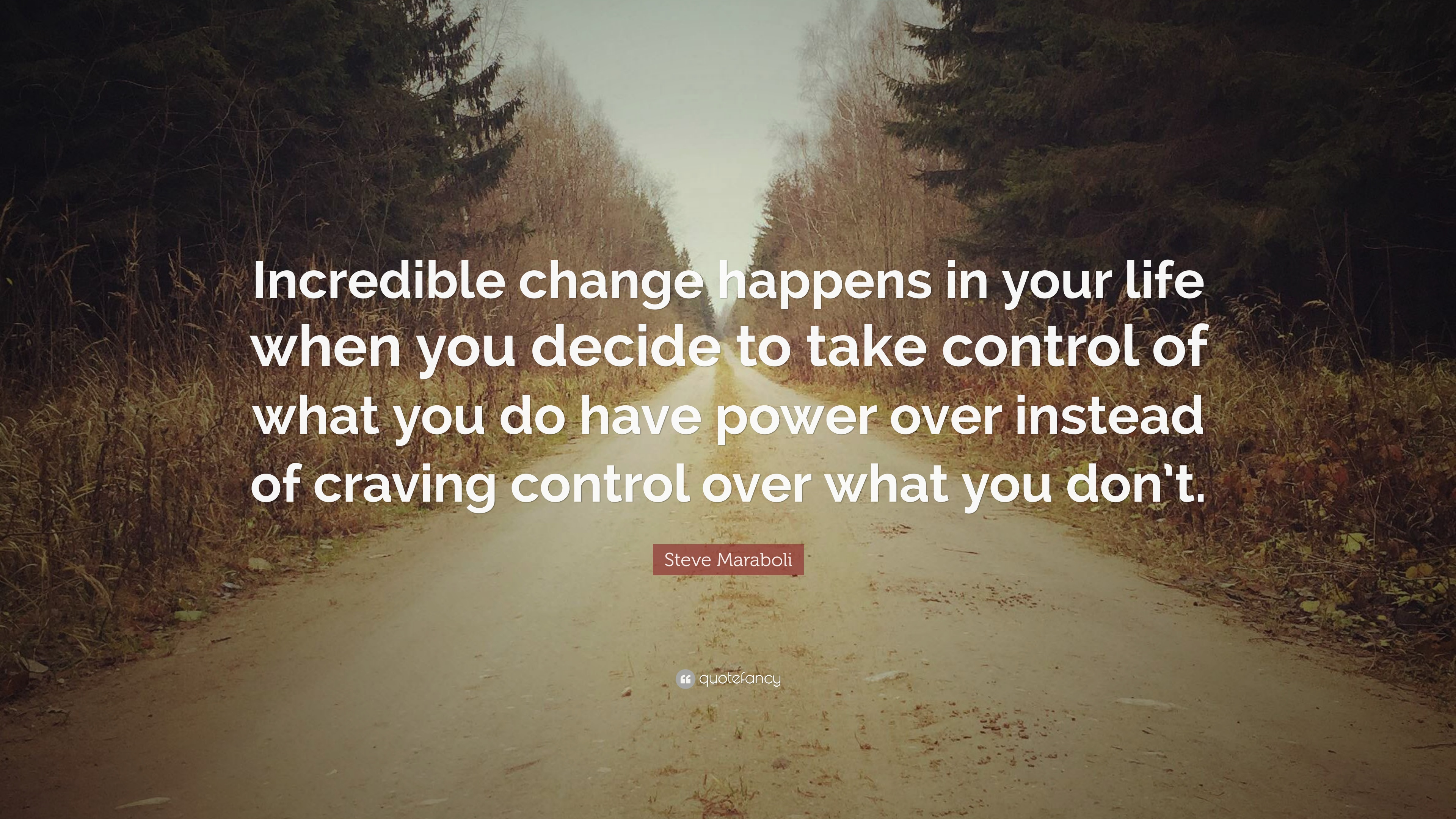 Steve Maraboli Quote Incredible Change Happens In Your Life When
