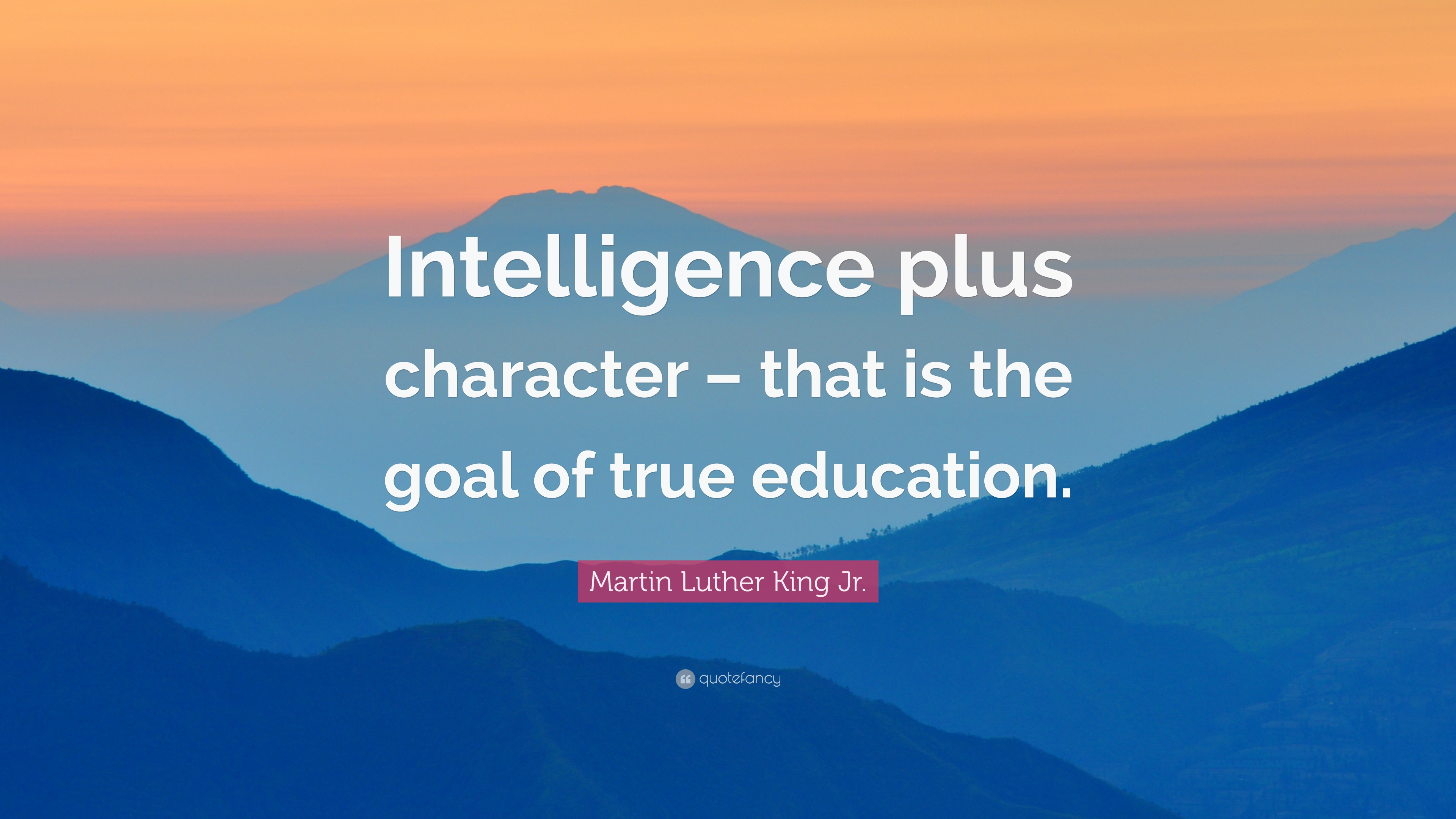Martin Luther King Jr Quote Intelligence Plus Character