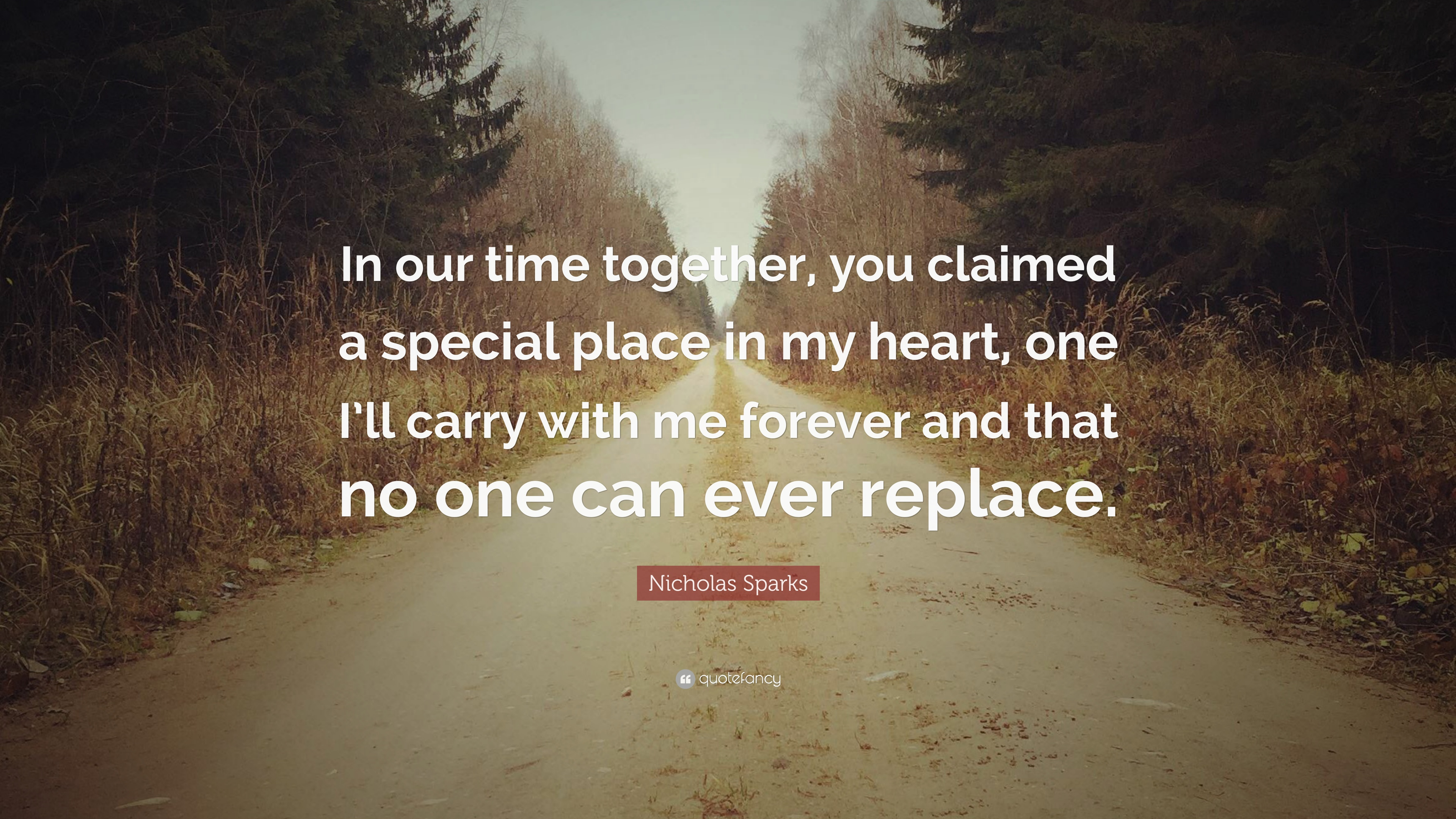 Nicholas Sparks Quote In Our Time Together You Claimed A Special
