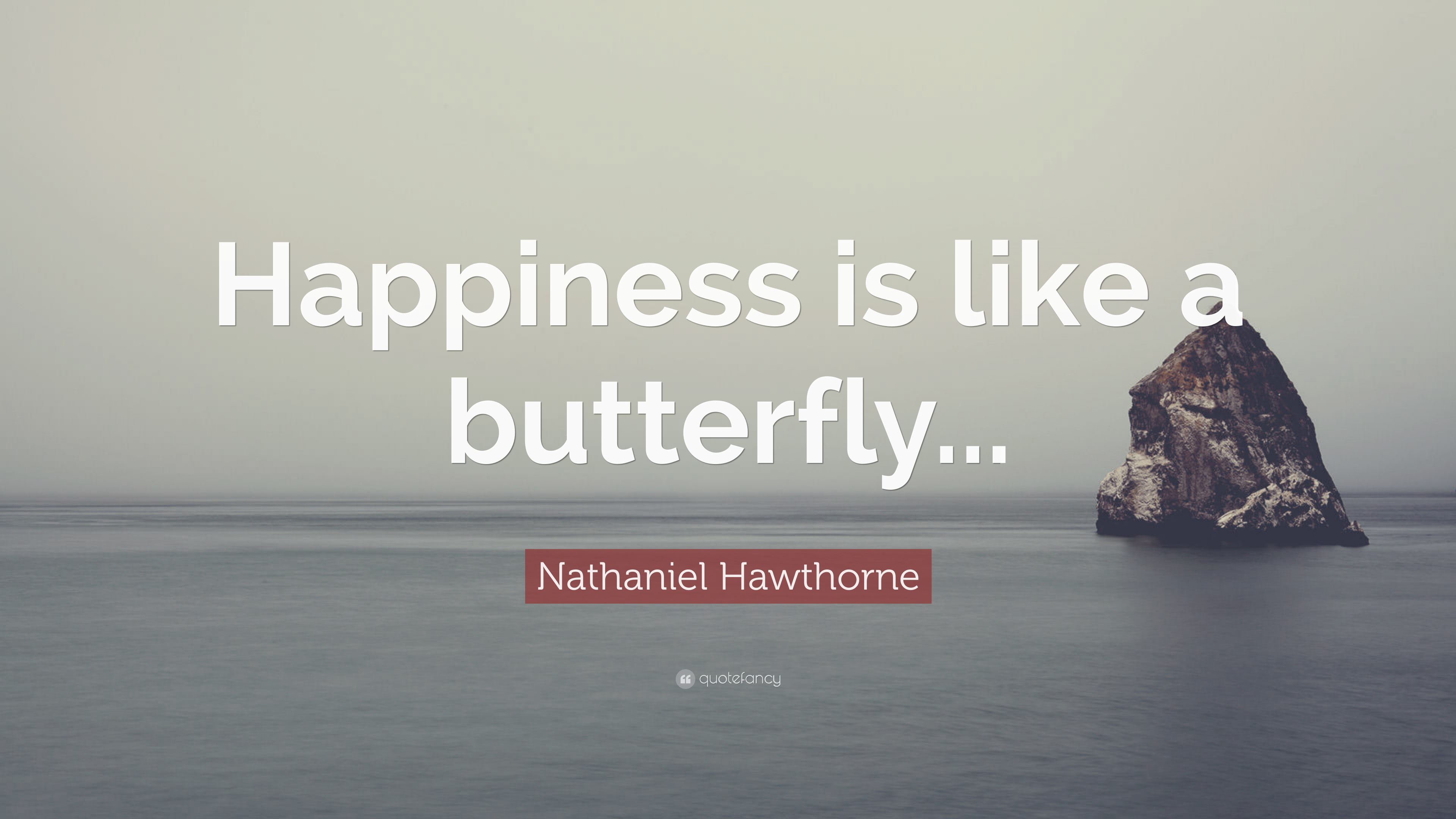 Nathaniel Hawthorne Quote Happiness Is Like A Butterfly 7