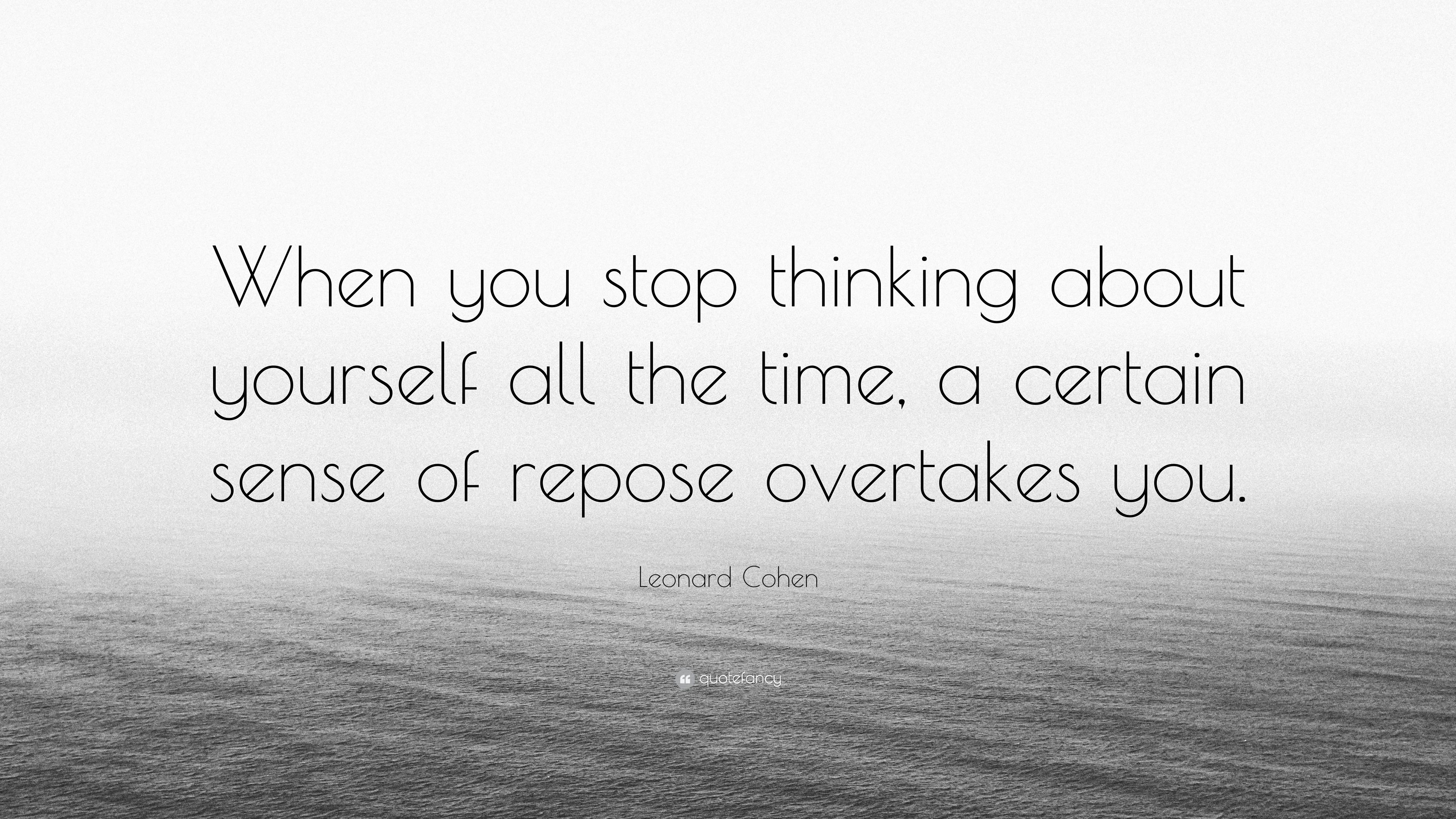 how to stop thinking all the time