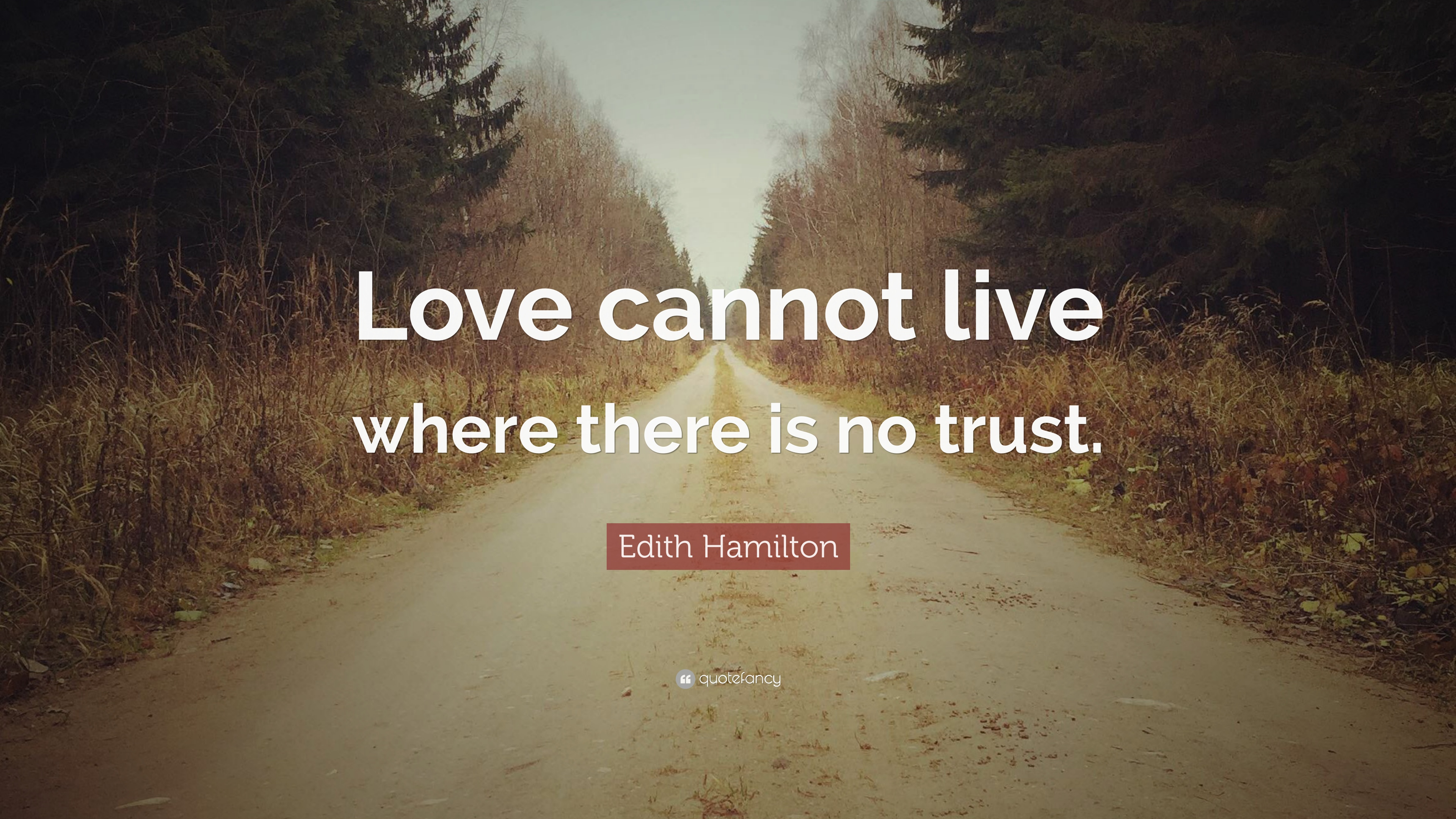 Edith Hamilton Quote: Love cannot live where there is no