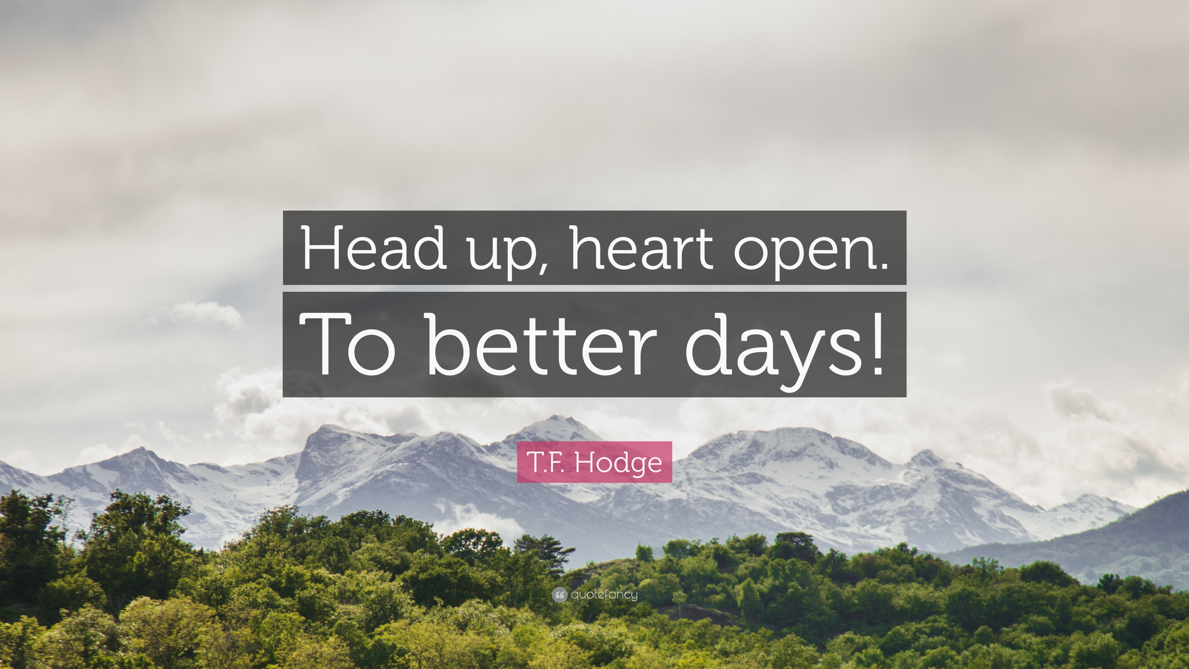 "Better Days Quotes Extraordinary T.fhodge Quote ""Head Up Heart Opento Better Days"" 12"