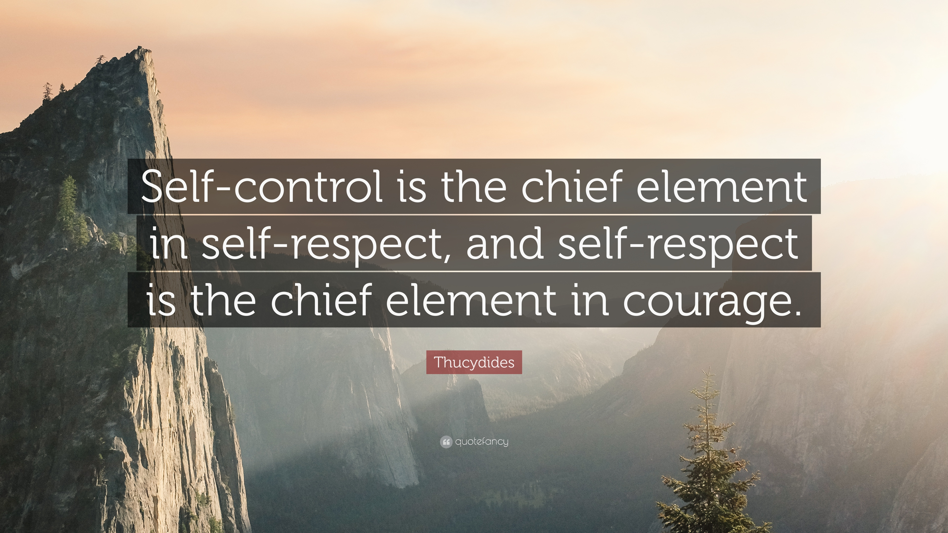 "Self Respect Quotes Thucydides Quote ""Selfcontrol Is The Chief Element In Self"