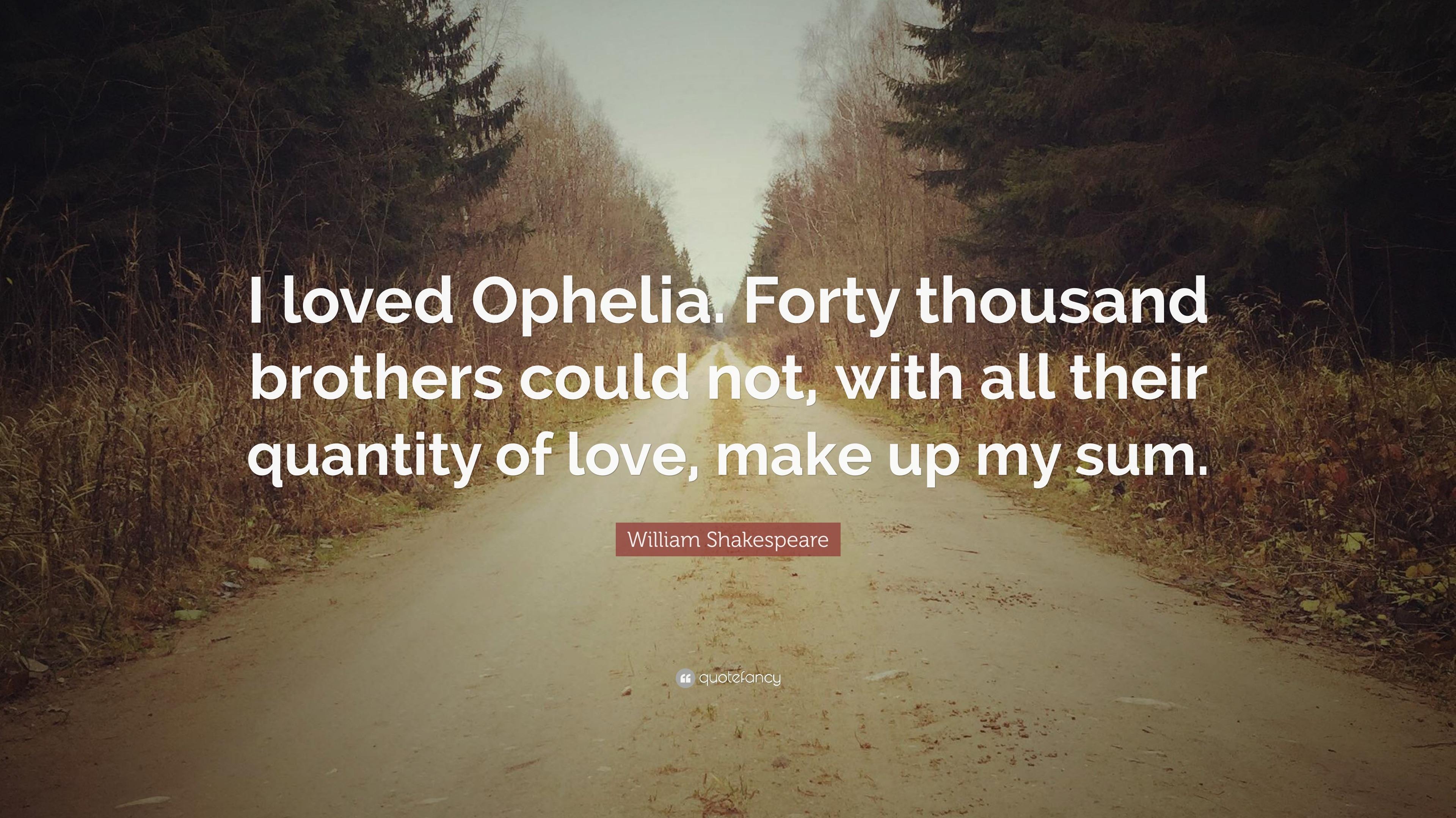 did hamlet love ophelia
