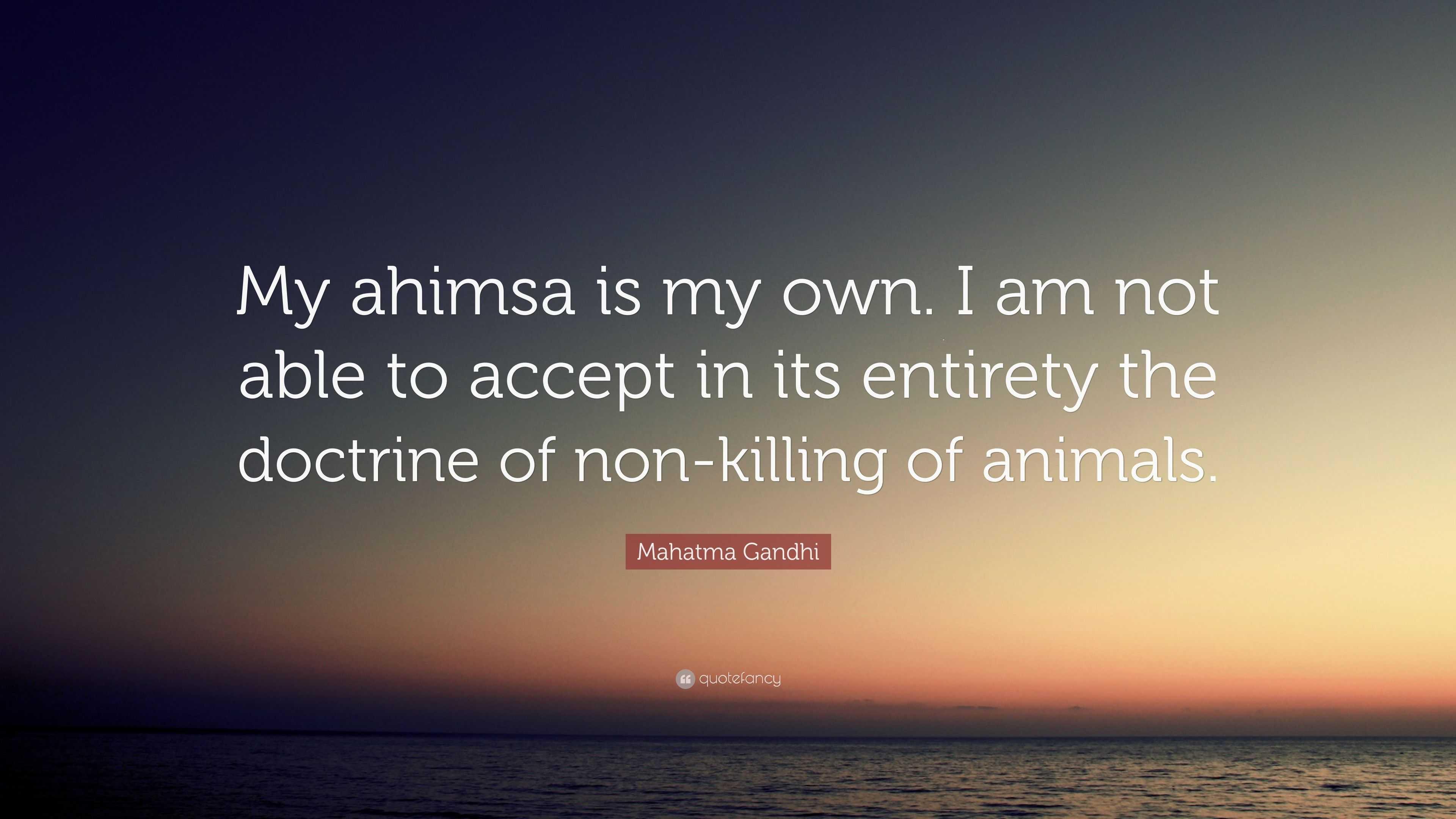 gandhi and ahimsa