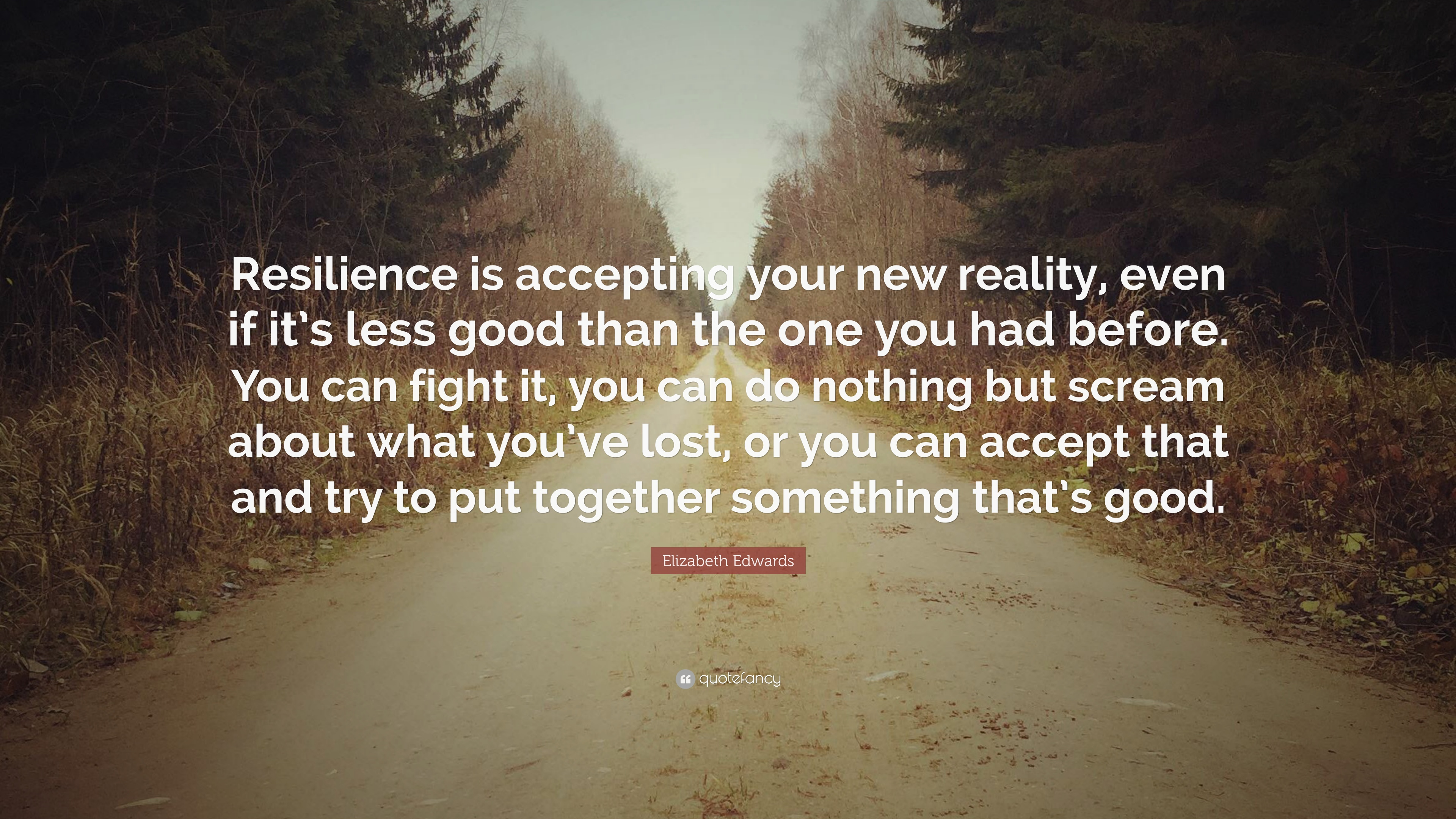 "Resilience Quotes Elizabeth Edwards Quote ""Resilience Is Accepting Your New Reality"