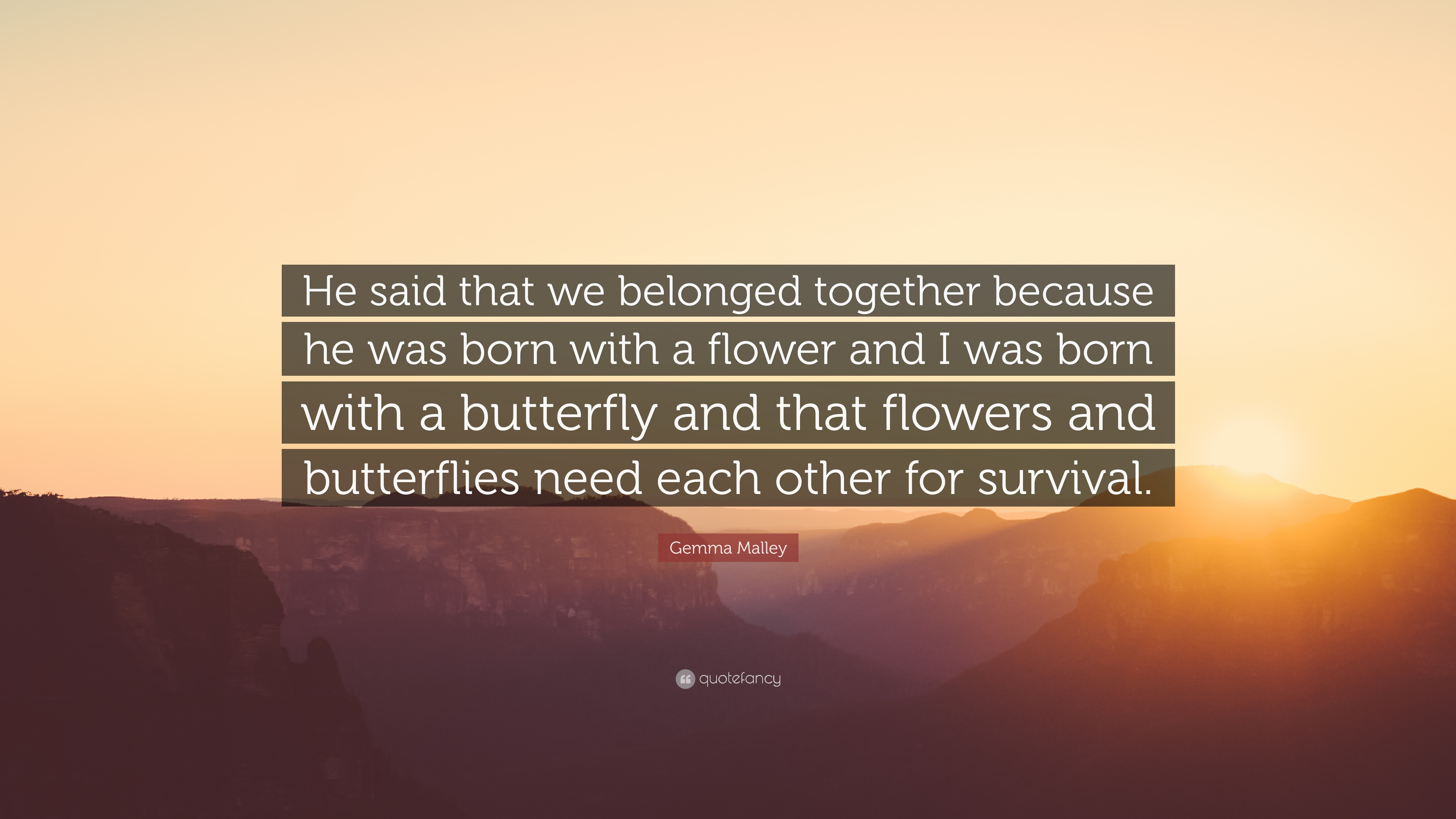 Gemma Malley Quote He Said That We Belonged Together Because He