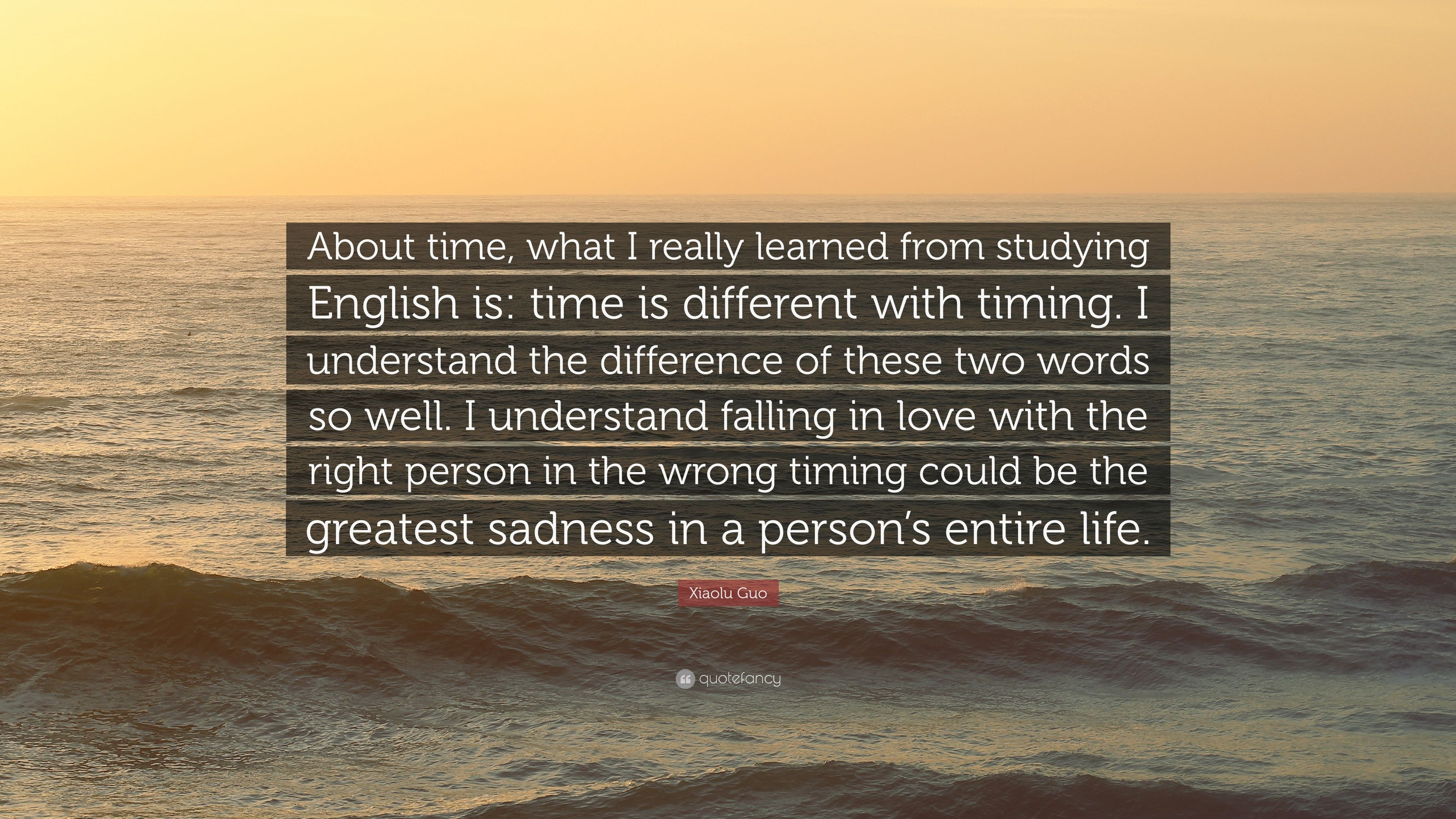 Xiaolu Guo Quote About Time What I Really Learned From Studying