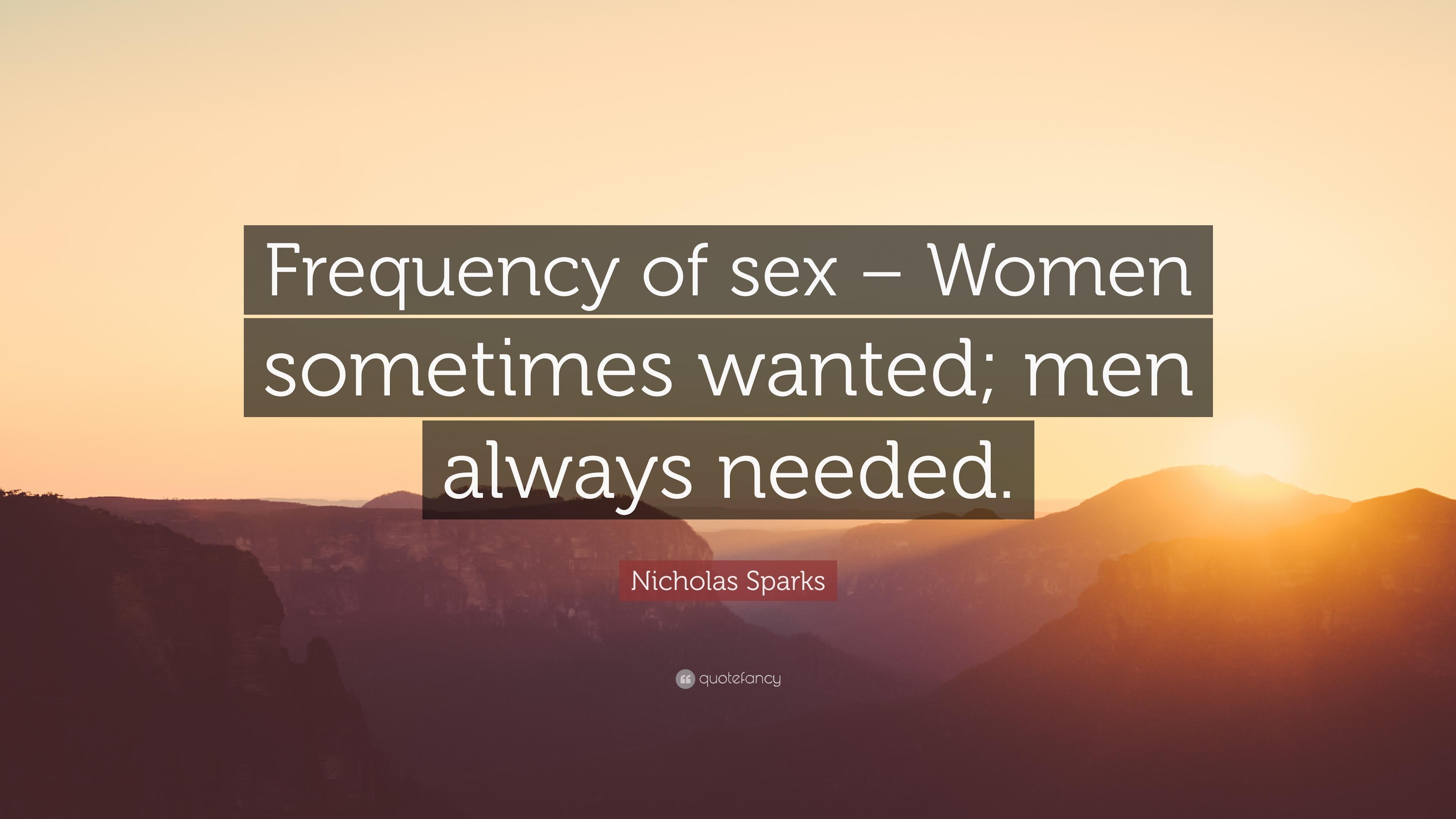 Needed sex