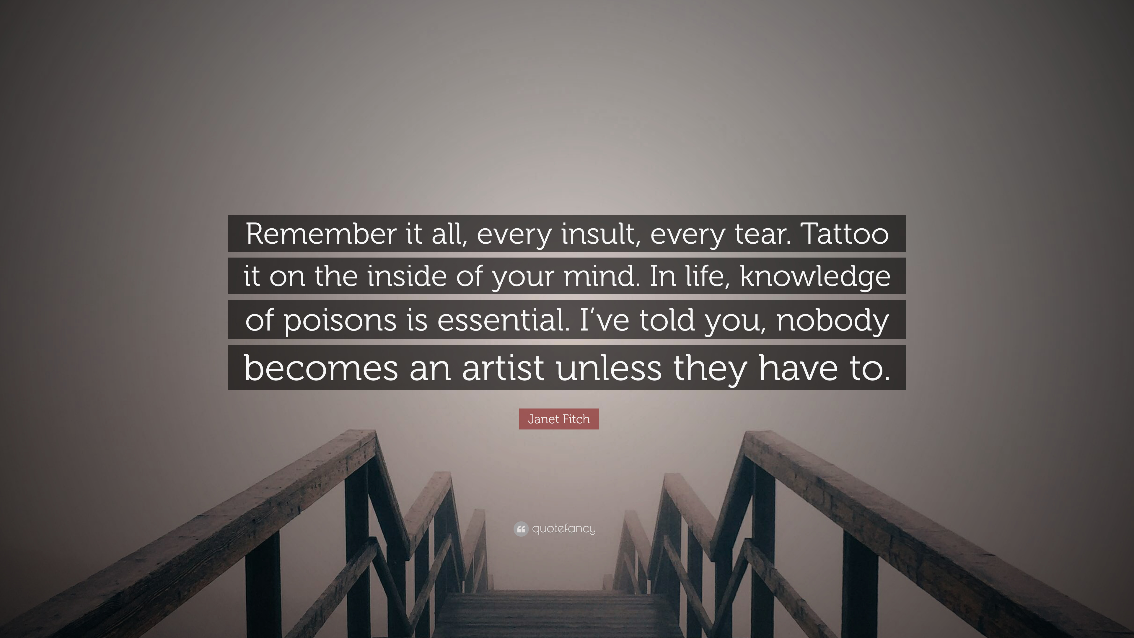 Janet Fitch Quote Remember It All Every Insult Every Tear