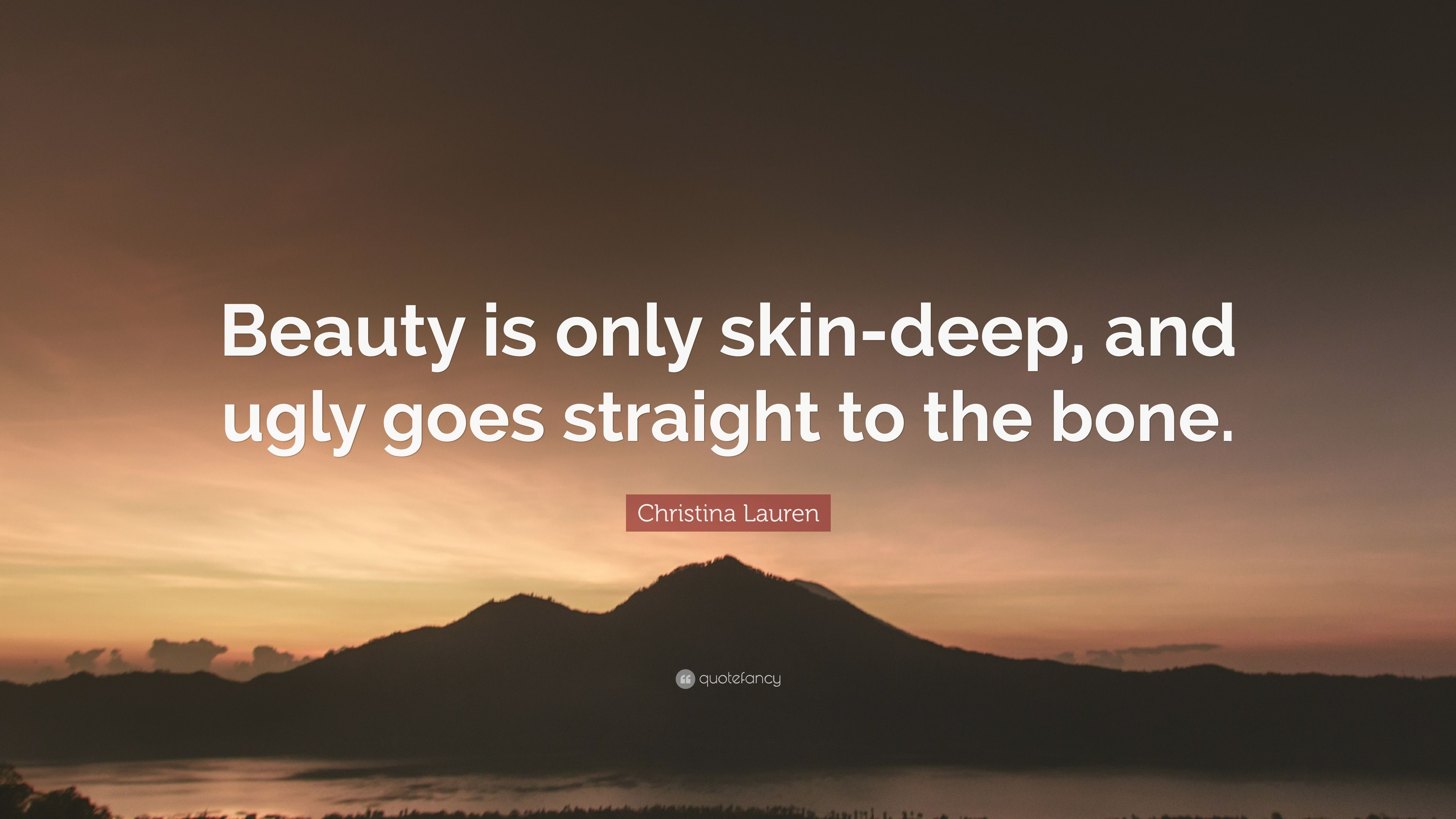 beauty is only a skin deep Apps like skin deep and think dirty, let customers scan products to reveal ratings on a scale of one to 10, from healthy to harmful natural and organic beauty is not a trend on its own, added llamas it's caused by the bigger trend of global health and wellness.