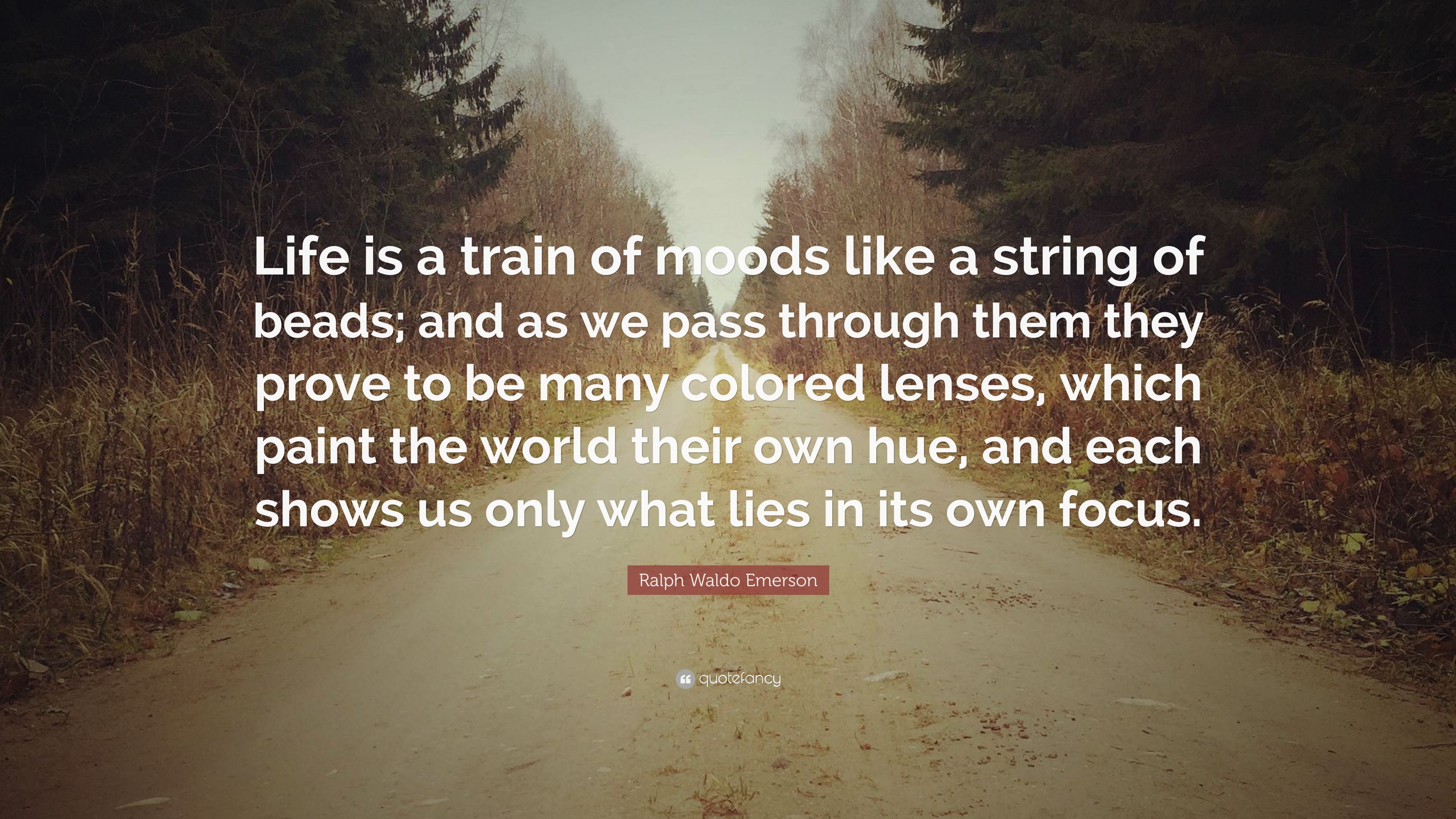 Ralph Waldo Emerson Quote Life Is A Train Of Moods Like A String
