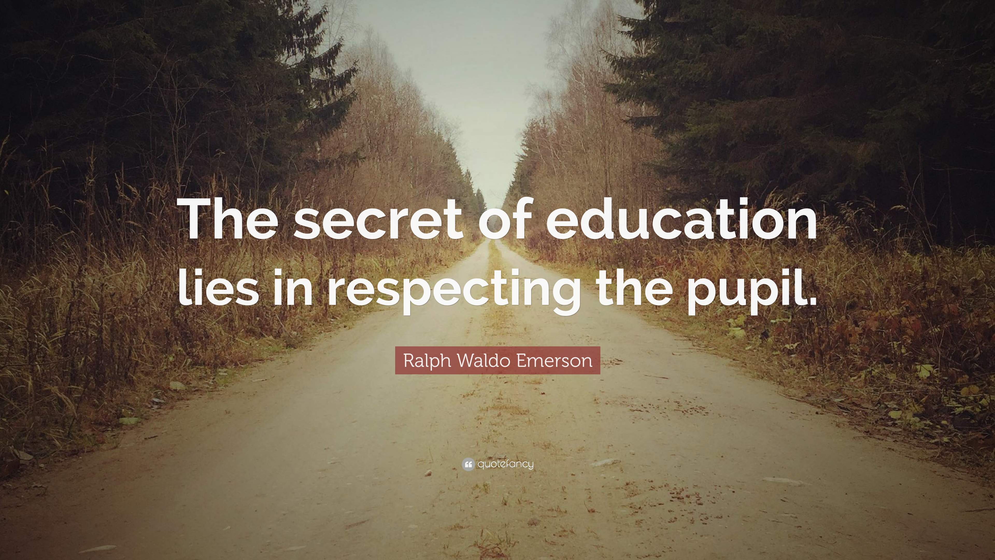 Ralph Waldo Emerson Quote The Secret Of Education Lies In