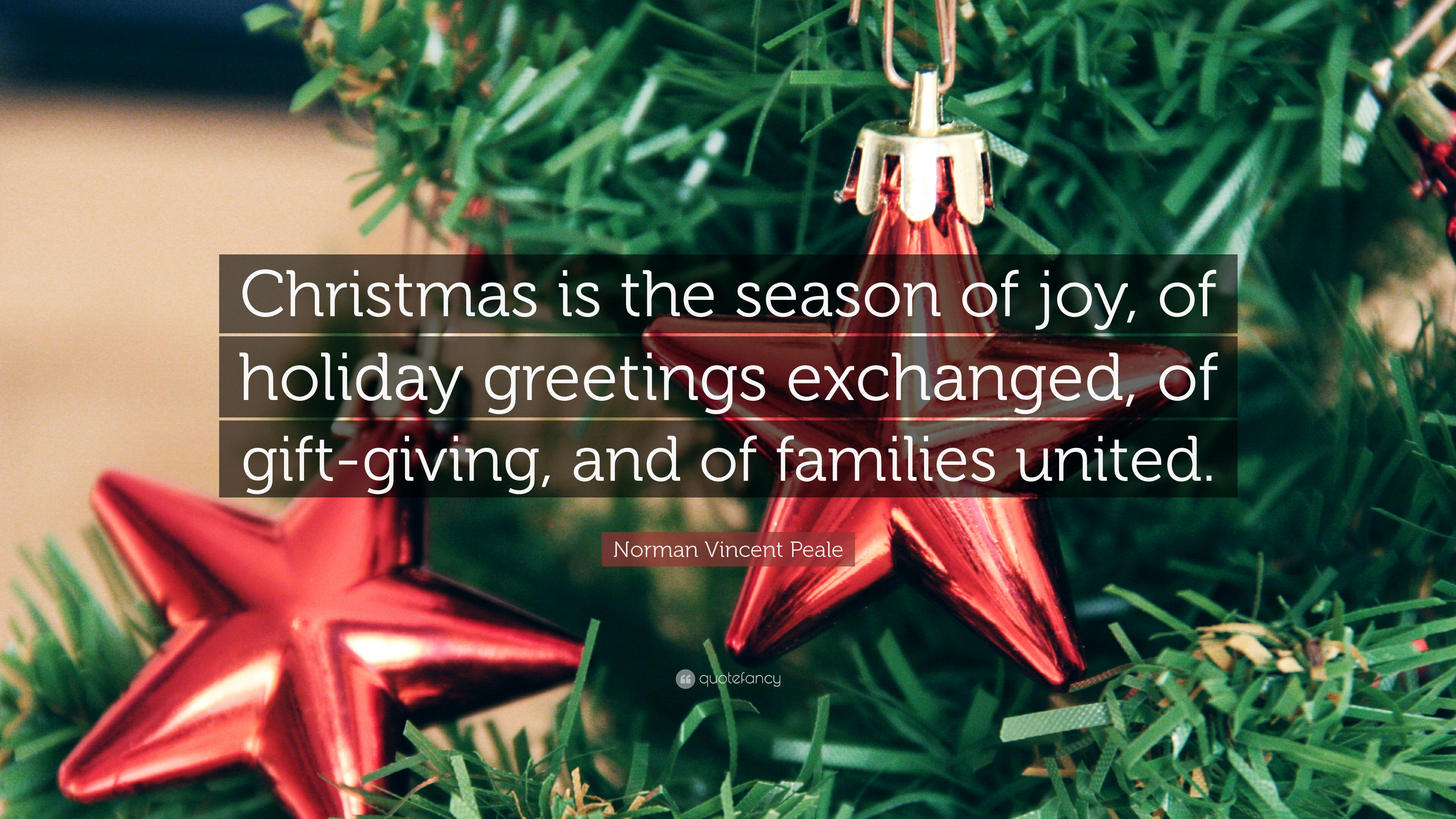 "Quotes For Christmas Norman Vincent Peale Quote ""Christmas Is The Season Of Joy Of"