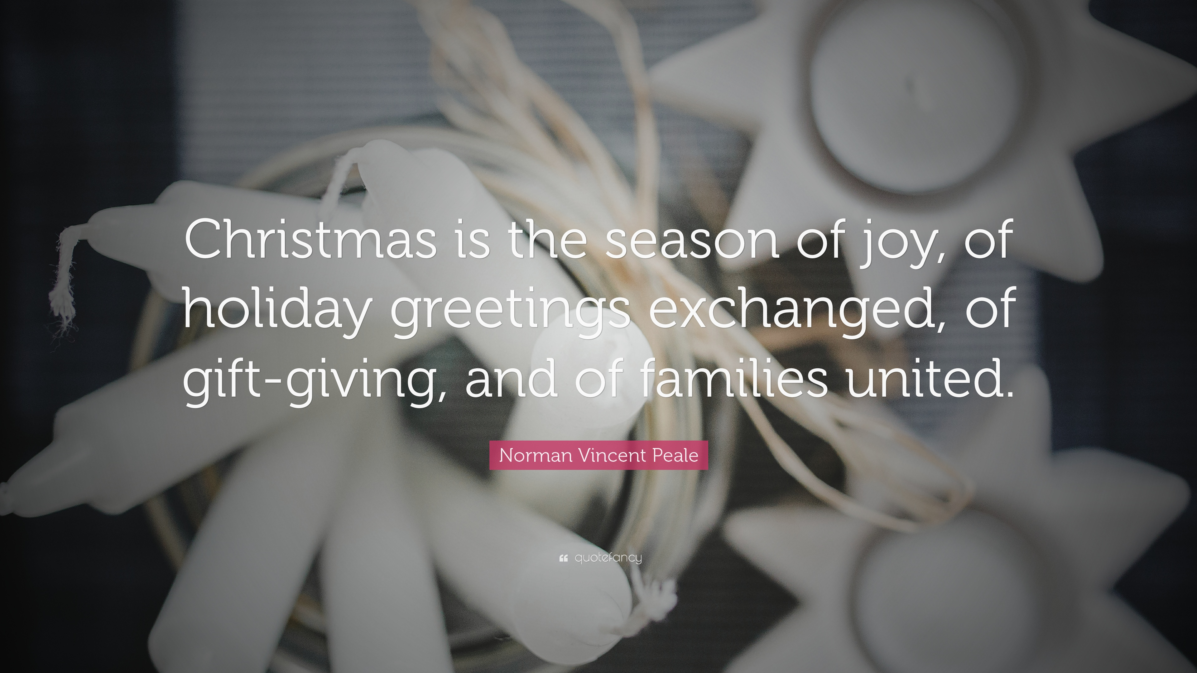 Norman vincent peale quote christmas is the season of joy of norman vincent peale quote christmas is the season of joy of holiday greetings kristyandbryce Image collections
