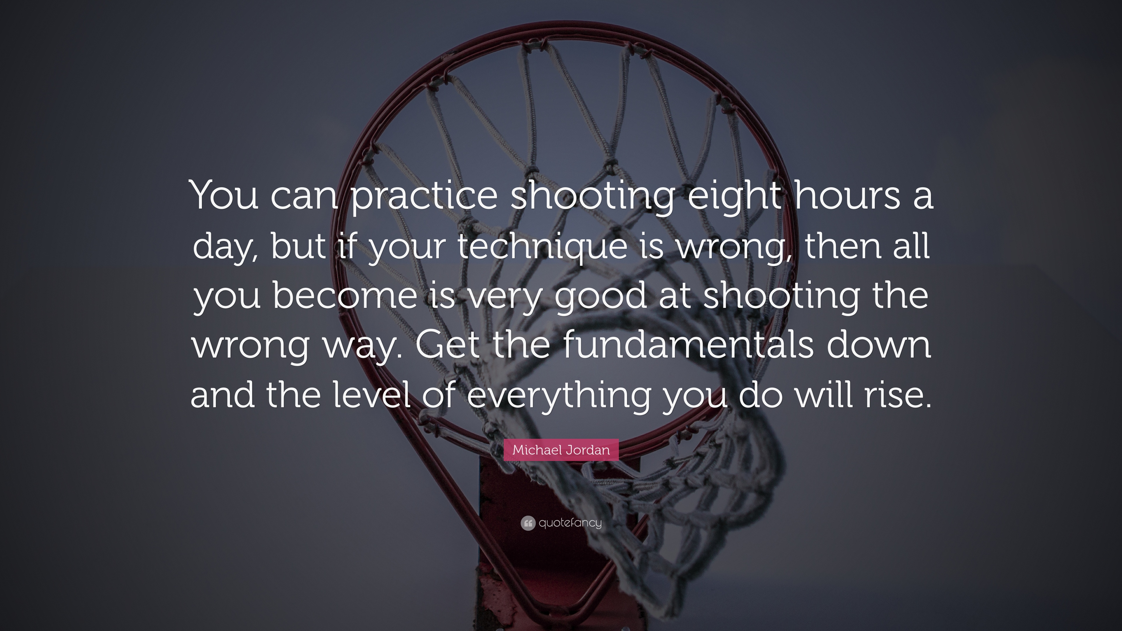 "Shooting Quotes Michael Jordan Quote ""You Can Practice Shooting Eight Hours A Day"
