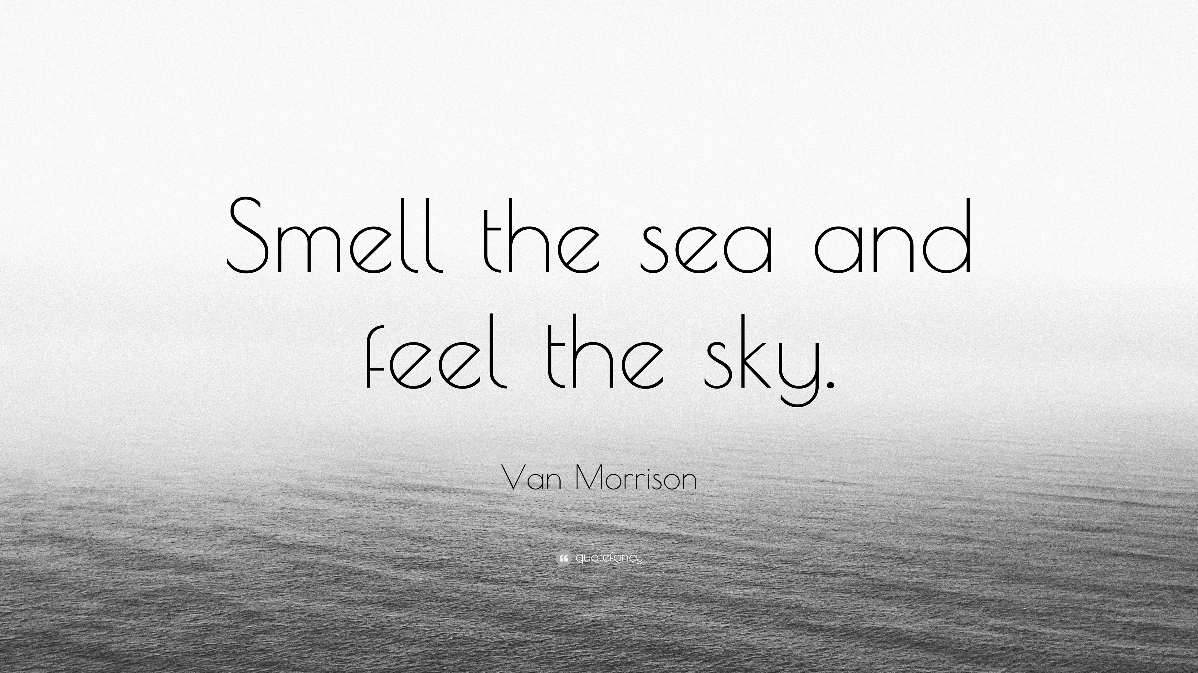 """van morrison quote """"smell the sea and feel the sky """""""