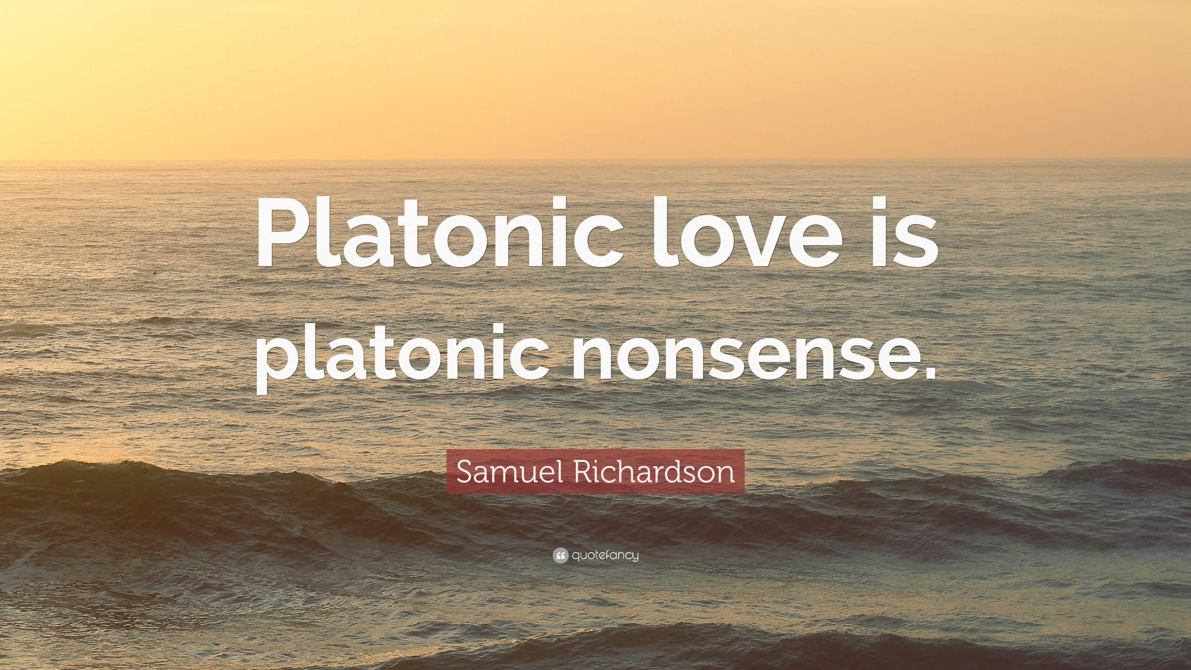 Platonic love is what