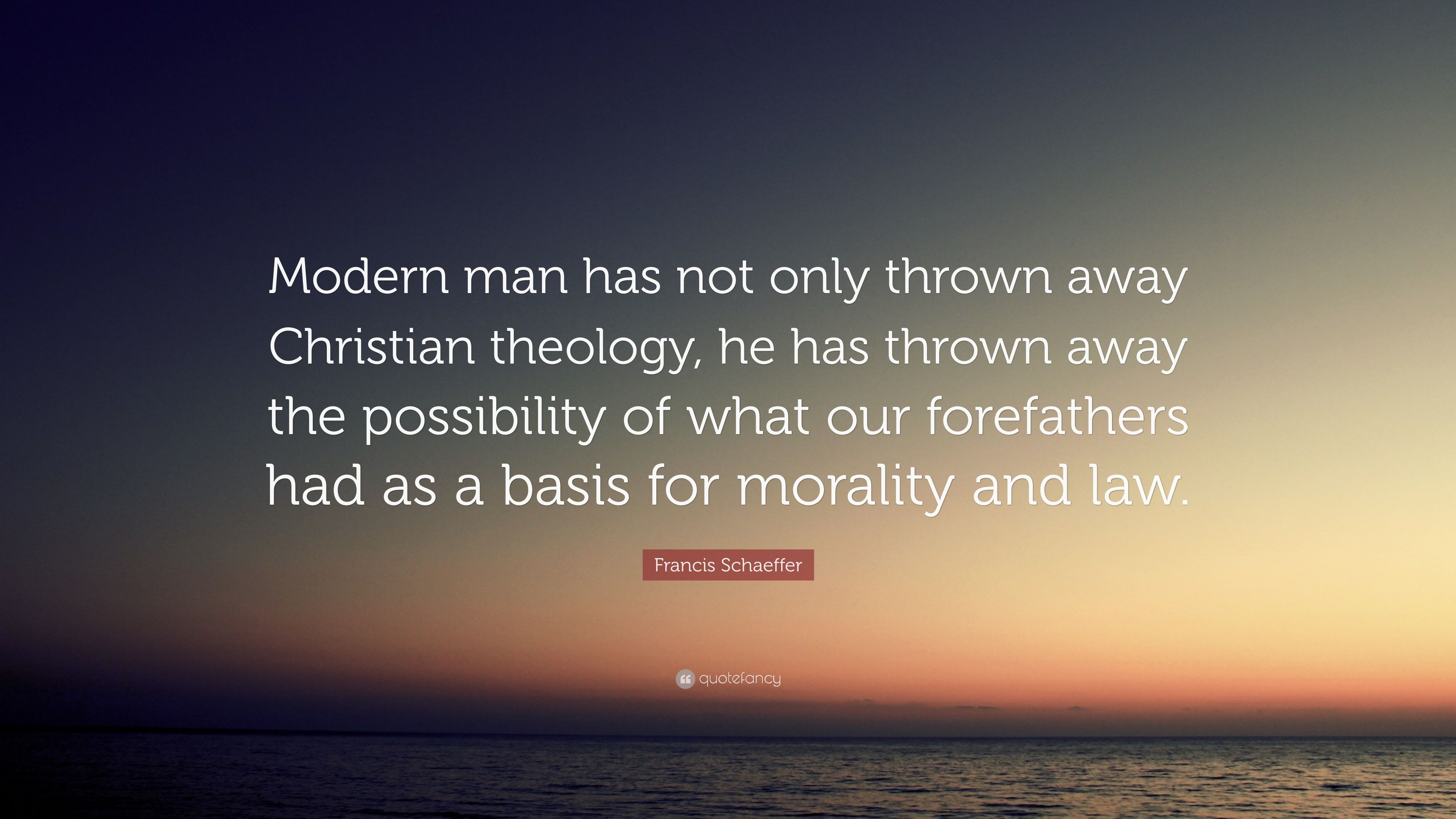 What is morality for the modern man 34