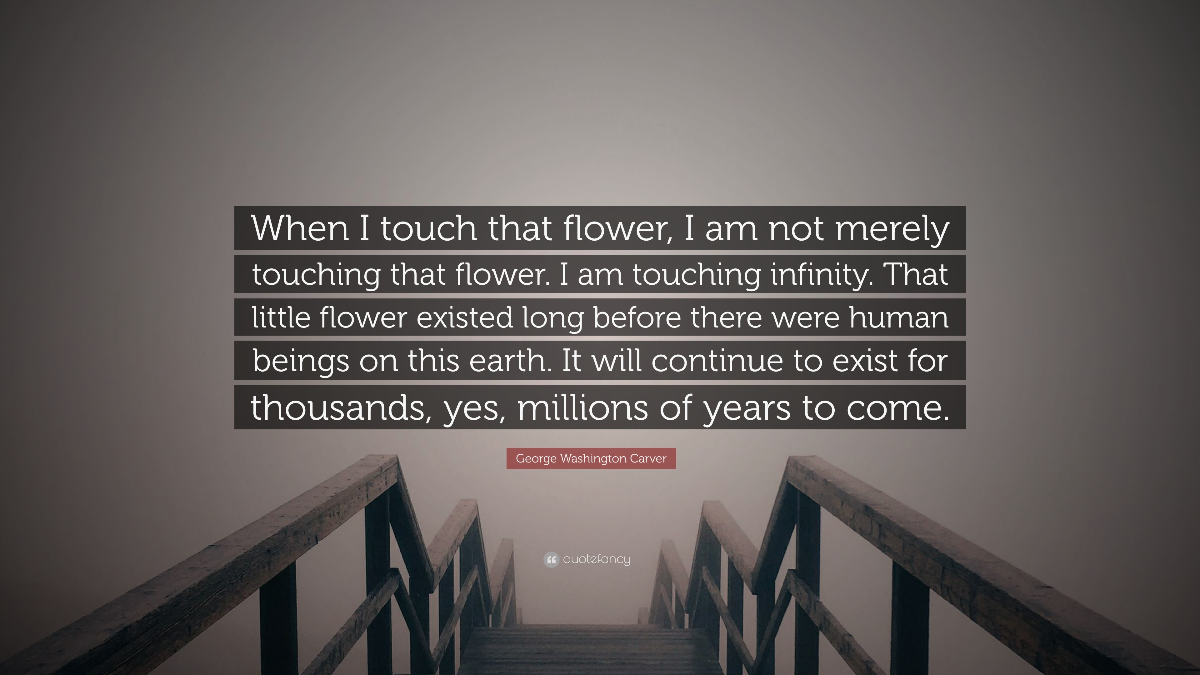 "george washington carver quote ""when i touch that flower i am  george washington carver quote ""when i touch that flower i am not merely"