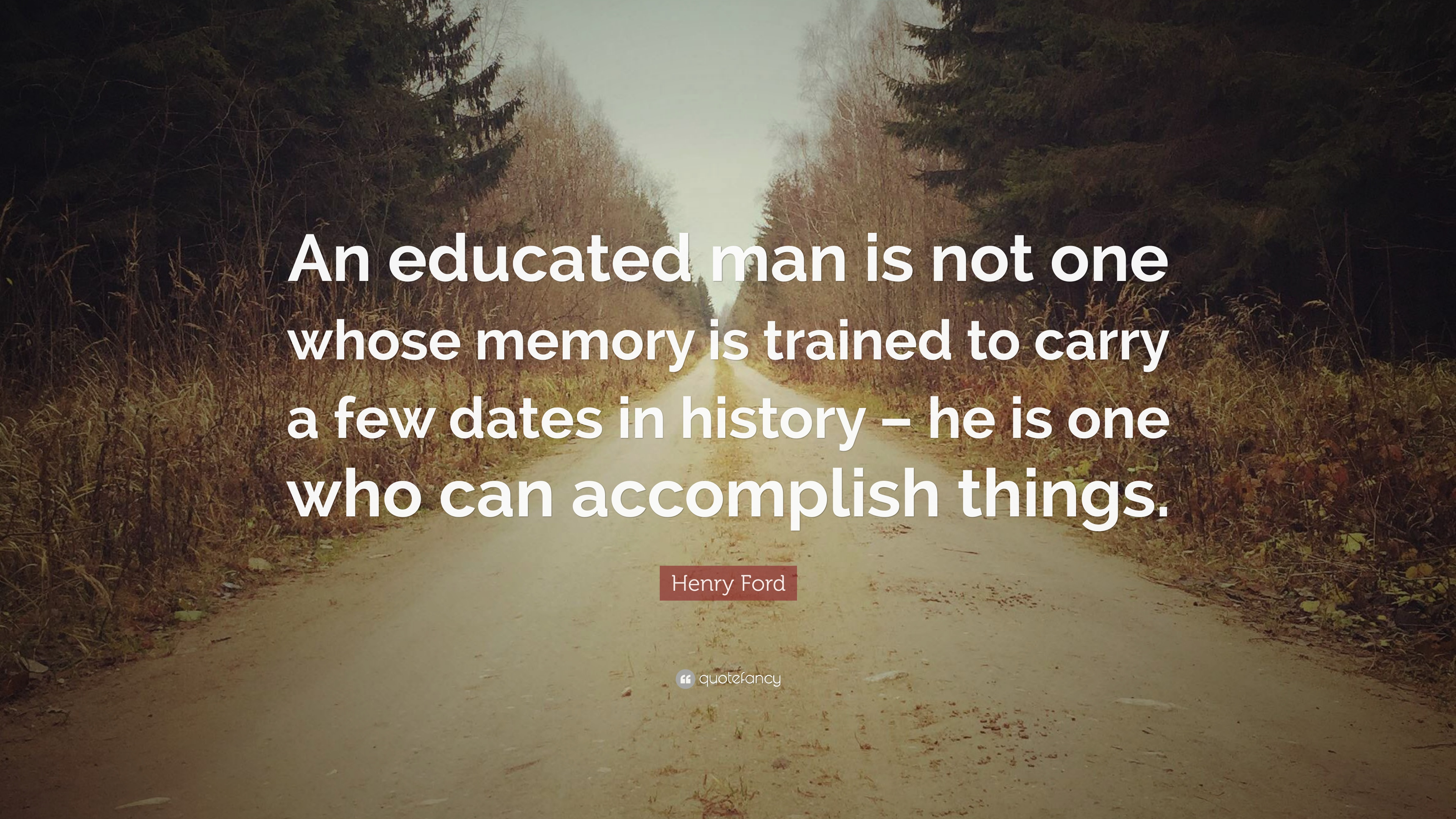 what is an educated man