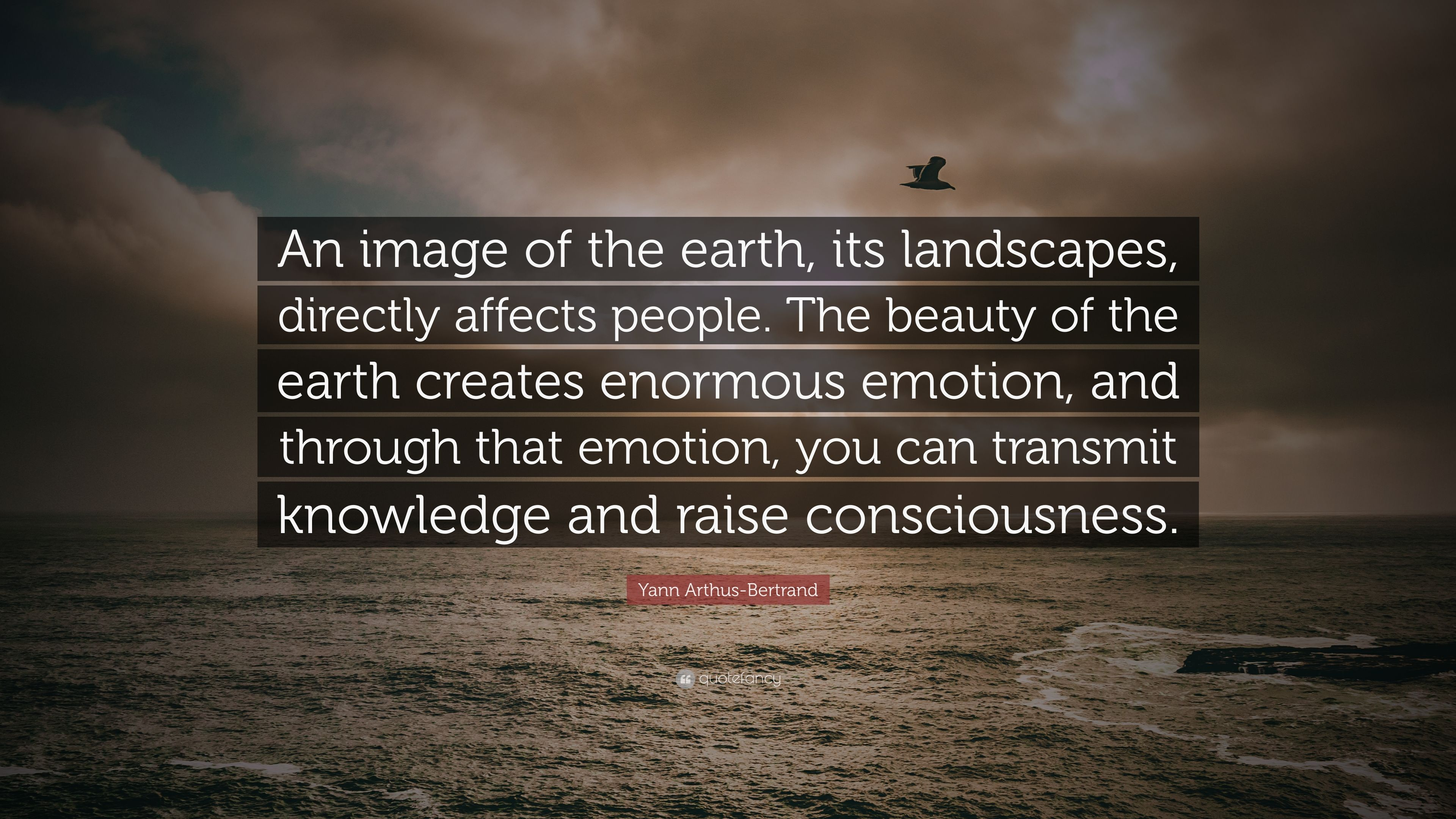 Yann Arthus Bertrand Quote An Image Of The Earth Its