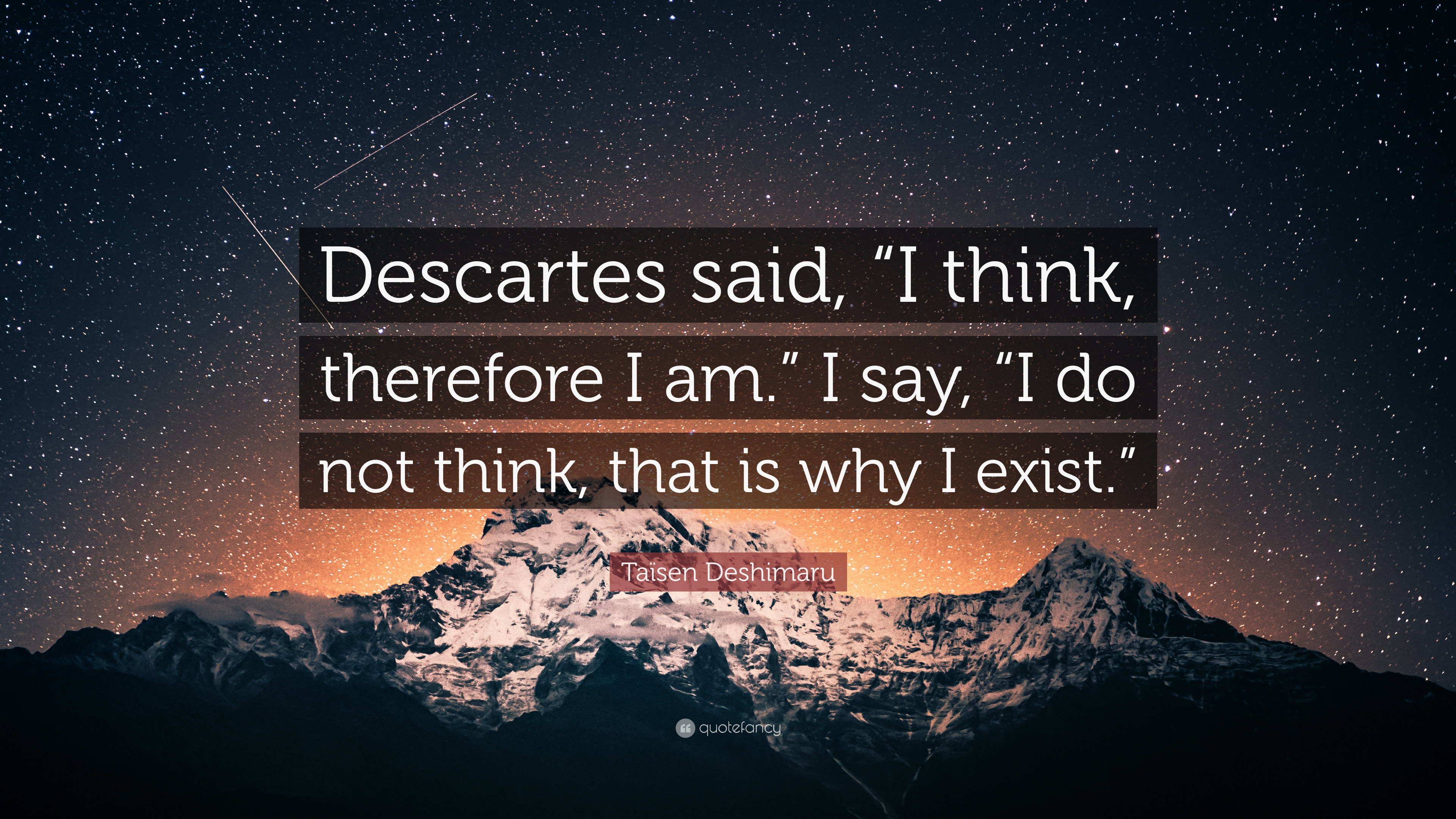 i think therefore i exist quote