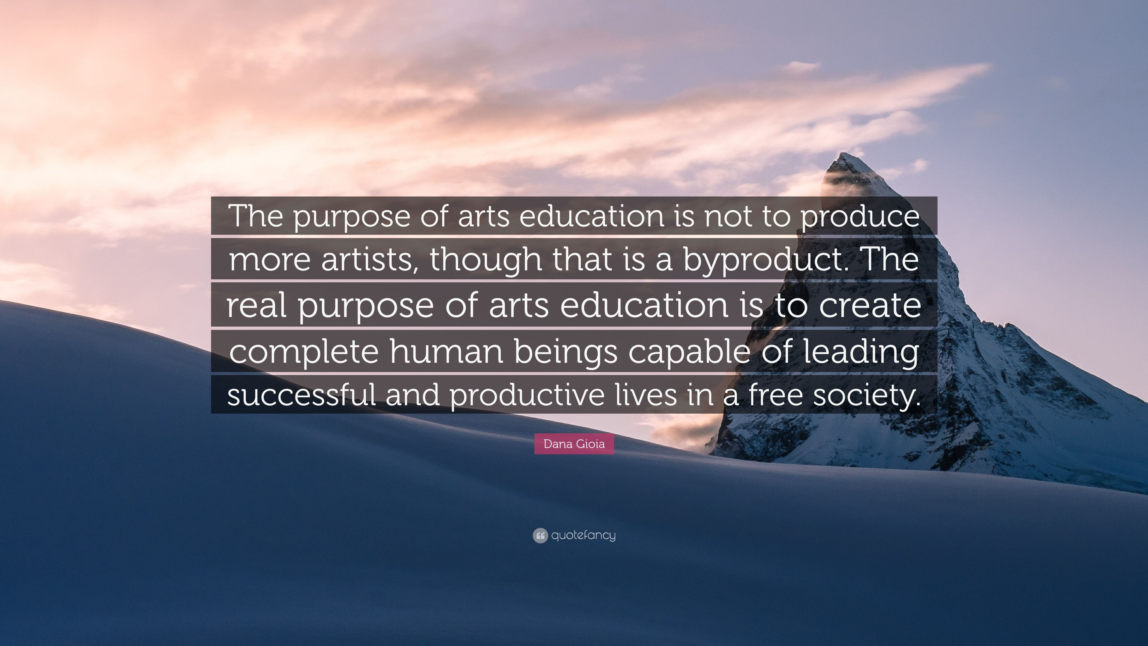 real purpose of education