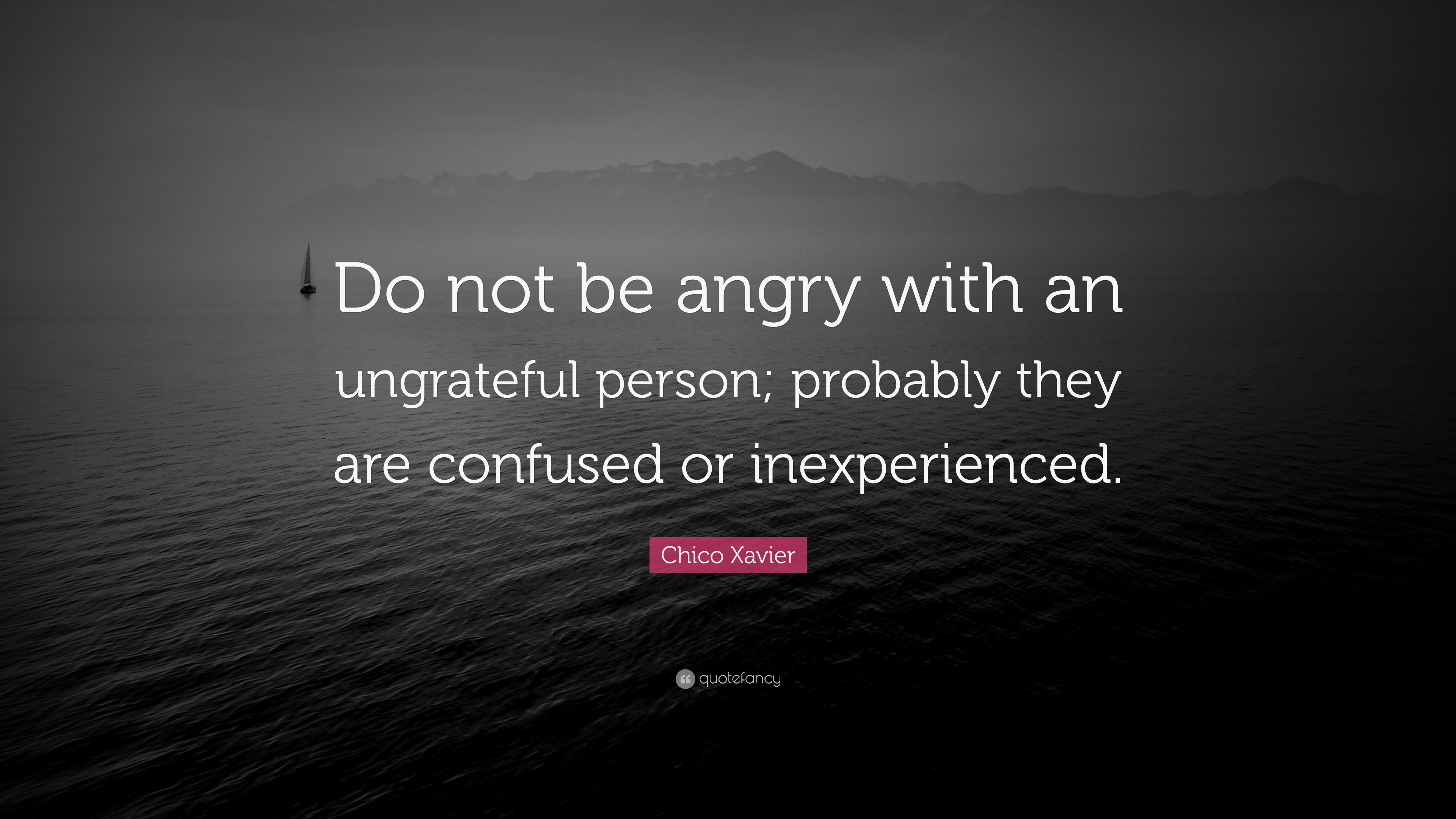 Chico Xavier Quote Do Not Be Angry With An Ungrateful Person