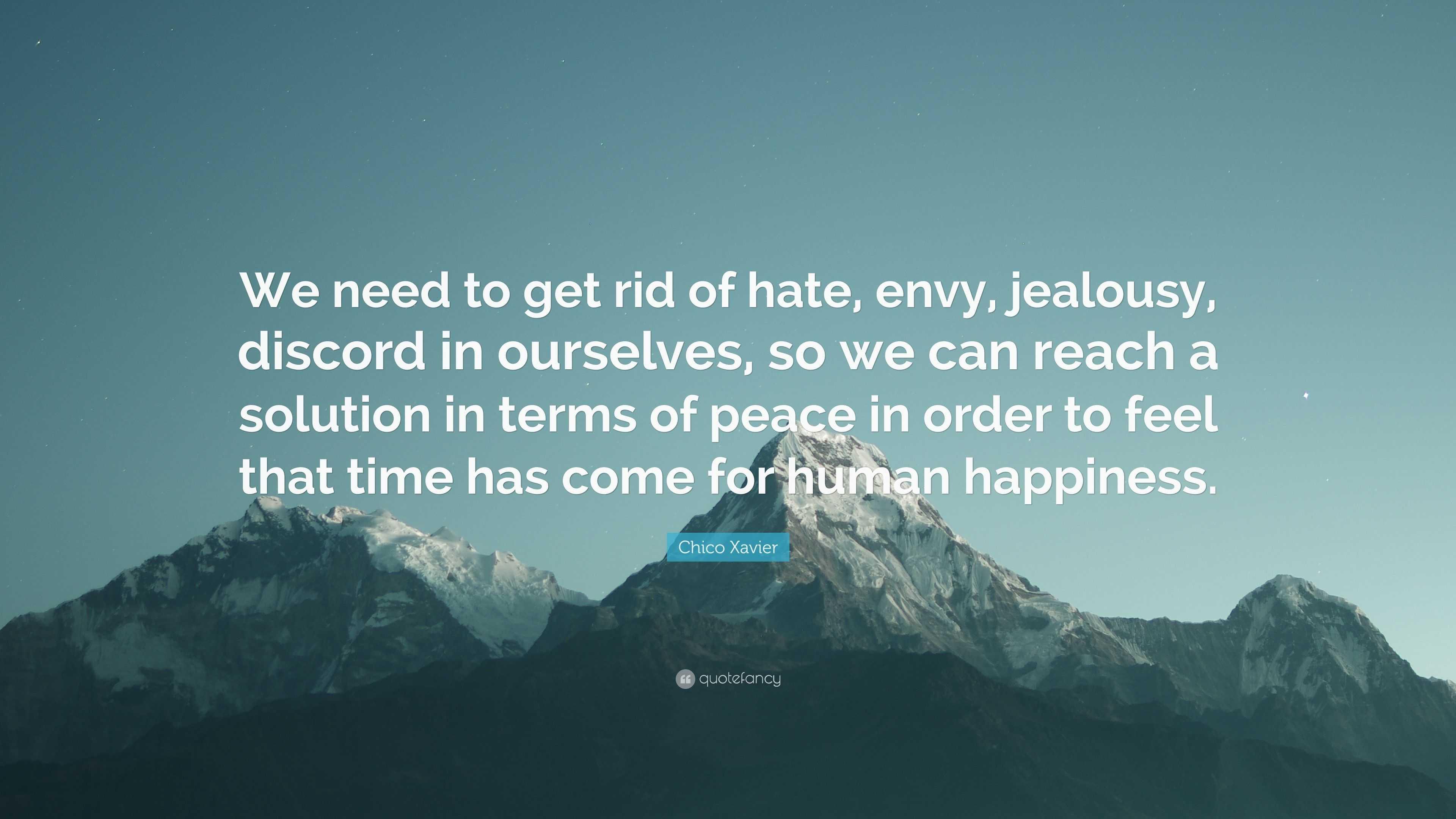 Get rid of jealousy