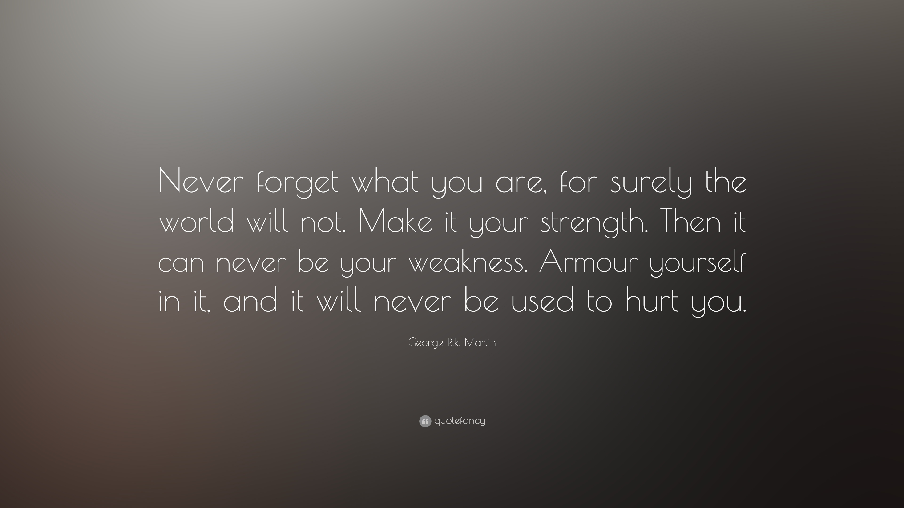 George Rr Martin Quote Never Forget What You Are For Surely The