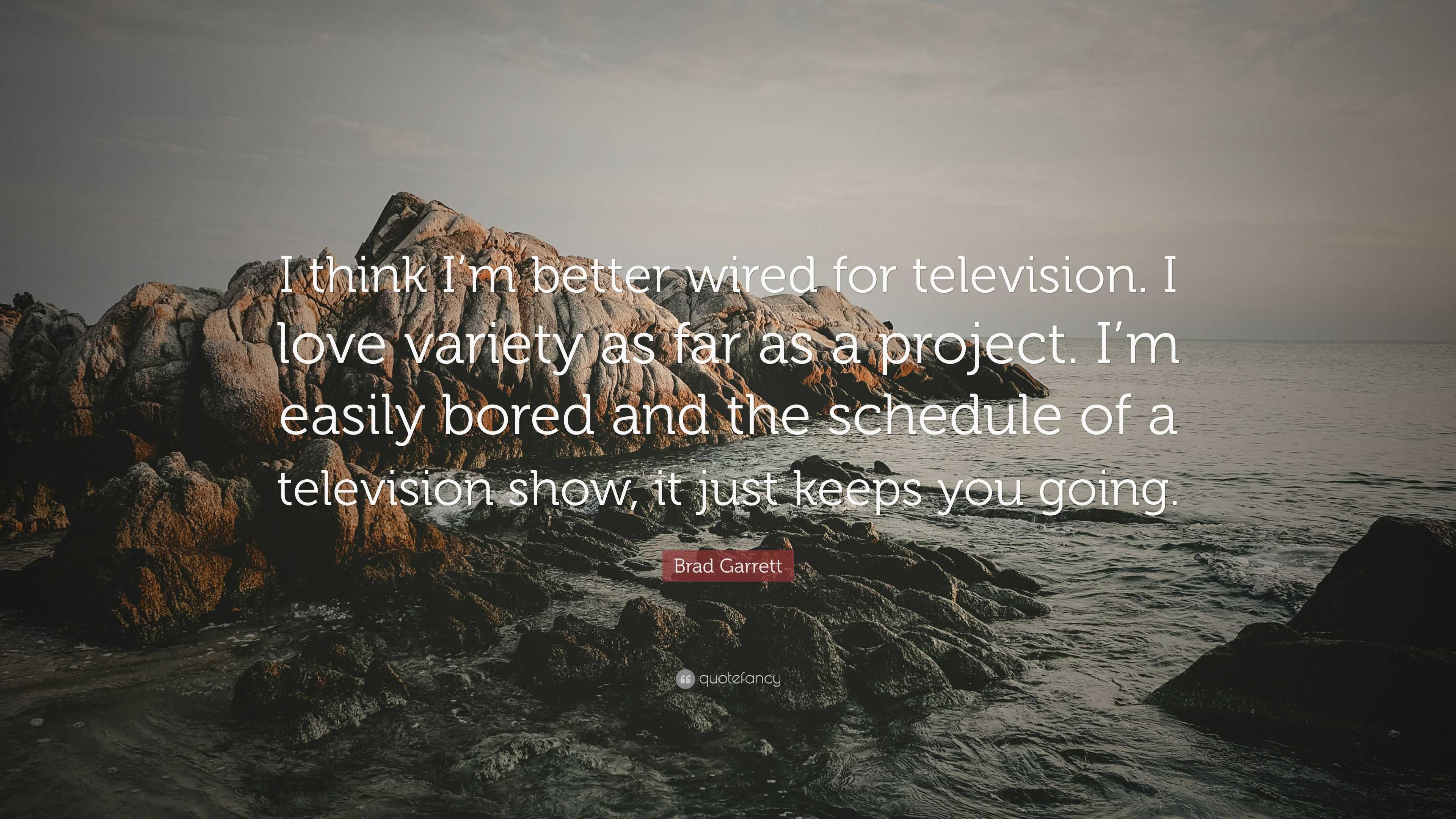 "Brad Garrett Quote: ""I think I\'m better wired for television. I love ..."
