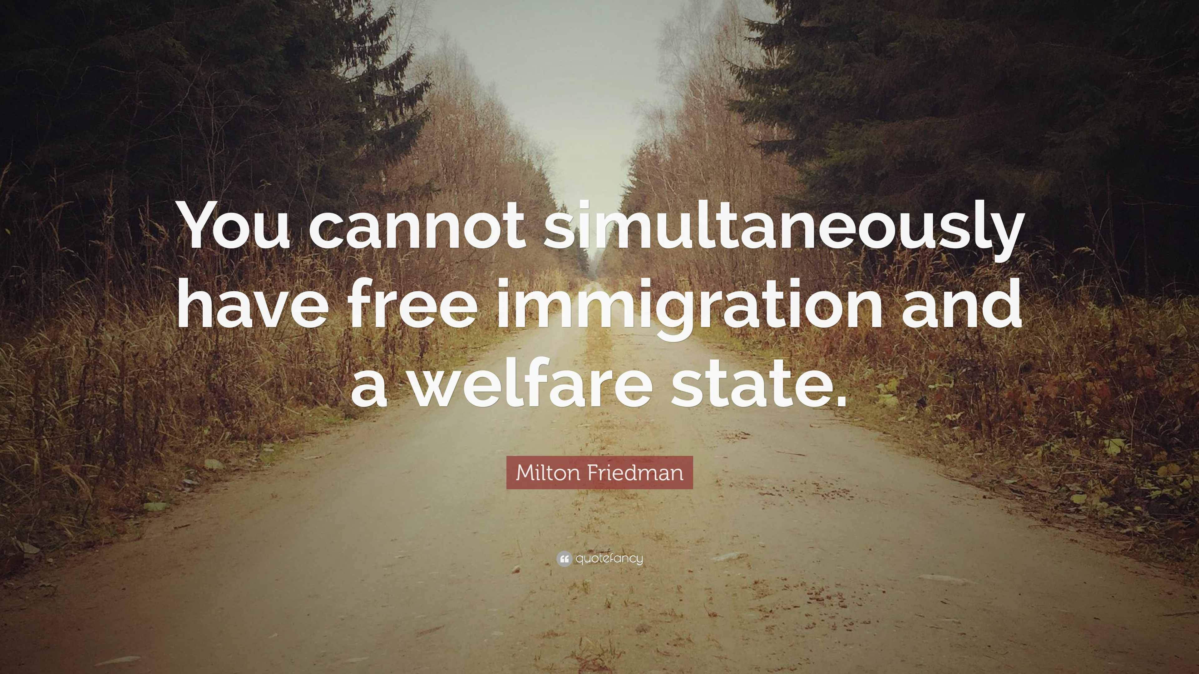 Milton Friedman Quote You Cannot Simultaneously Have Free