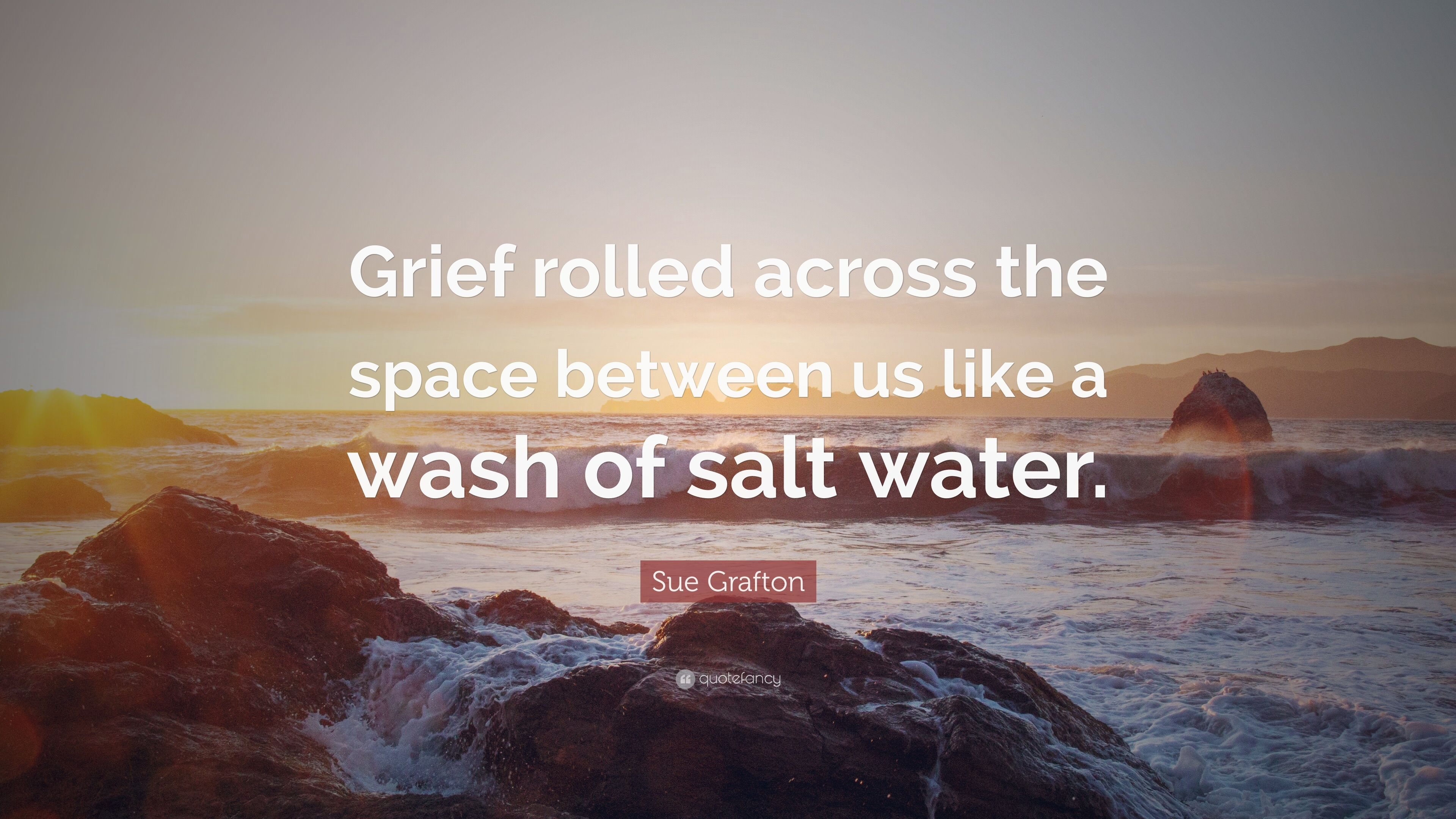 Sue Grafton Quote Grief Rolled Across The Space Between Us Like A