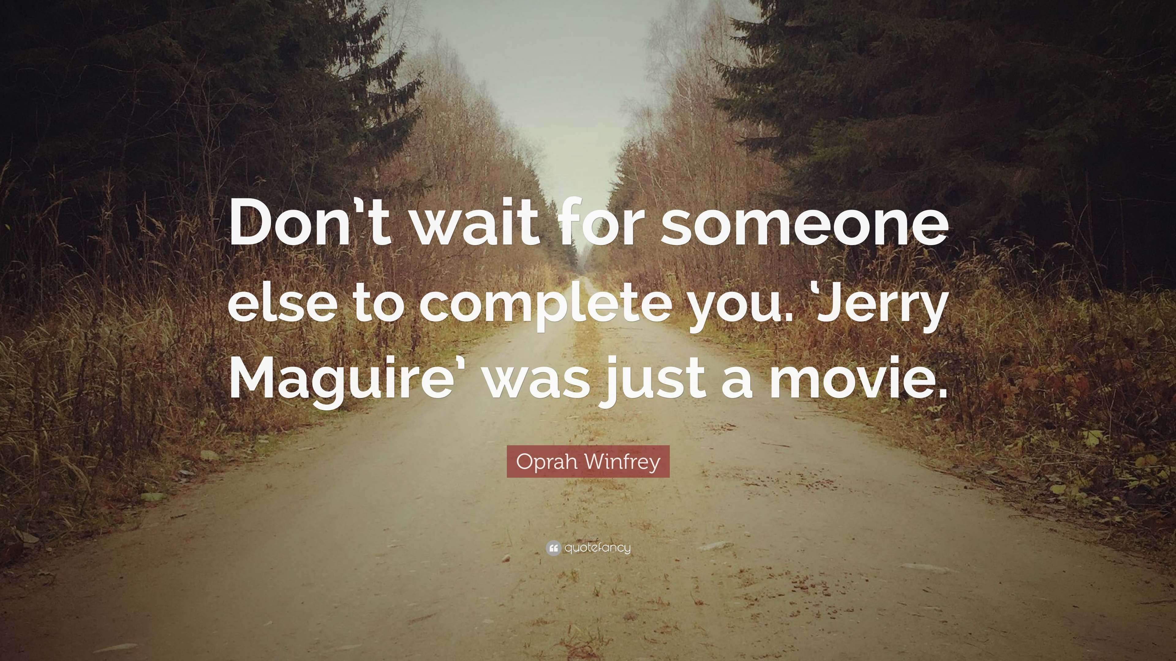Charmant Oprah Winfrey Quote: U201cDonu0027t Wait For Someone Else To Complete You.