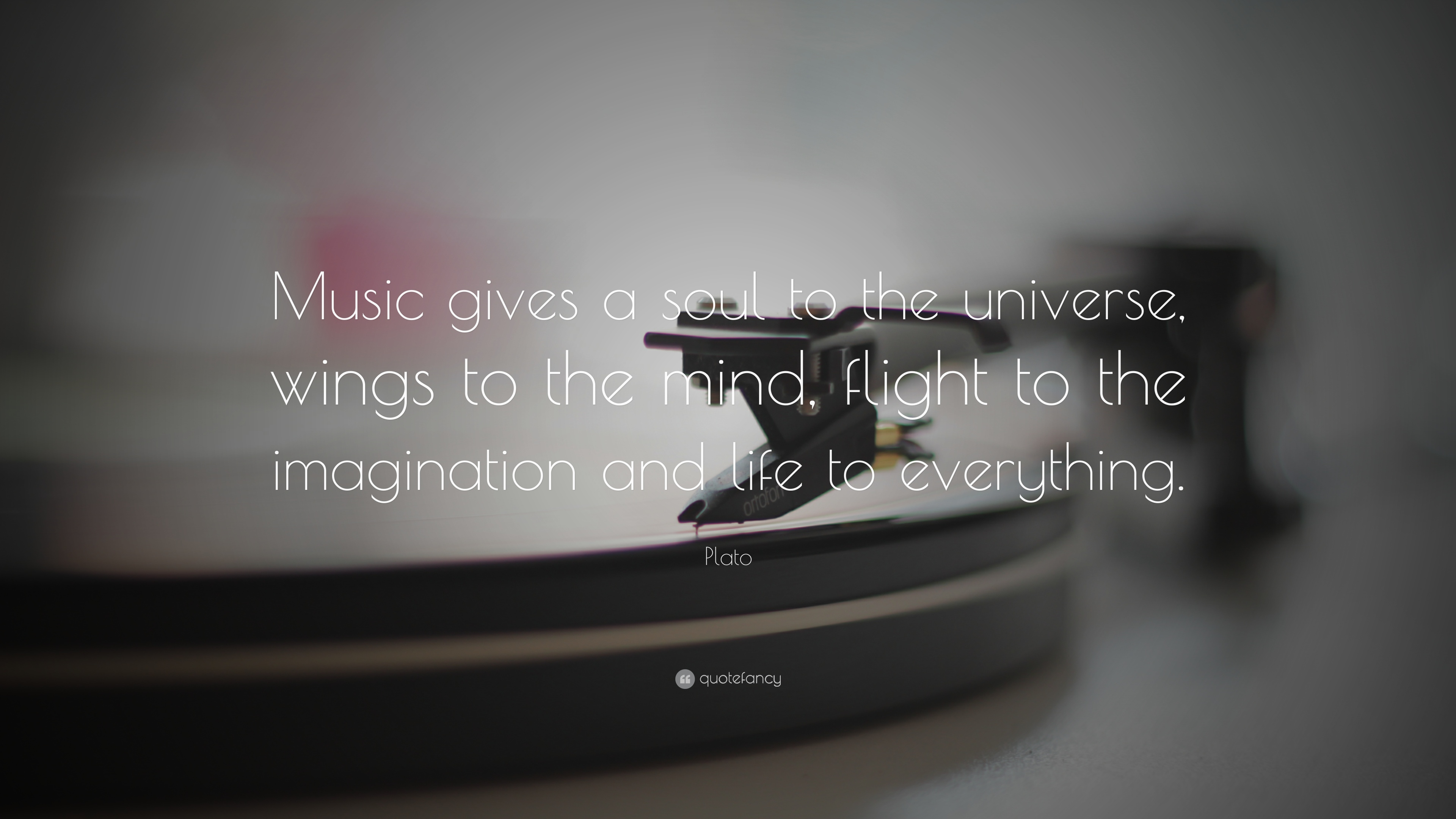 Plato Quote Music Gives A Soul To The Universe Wings To The Mind