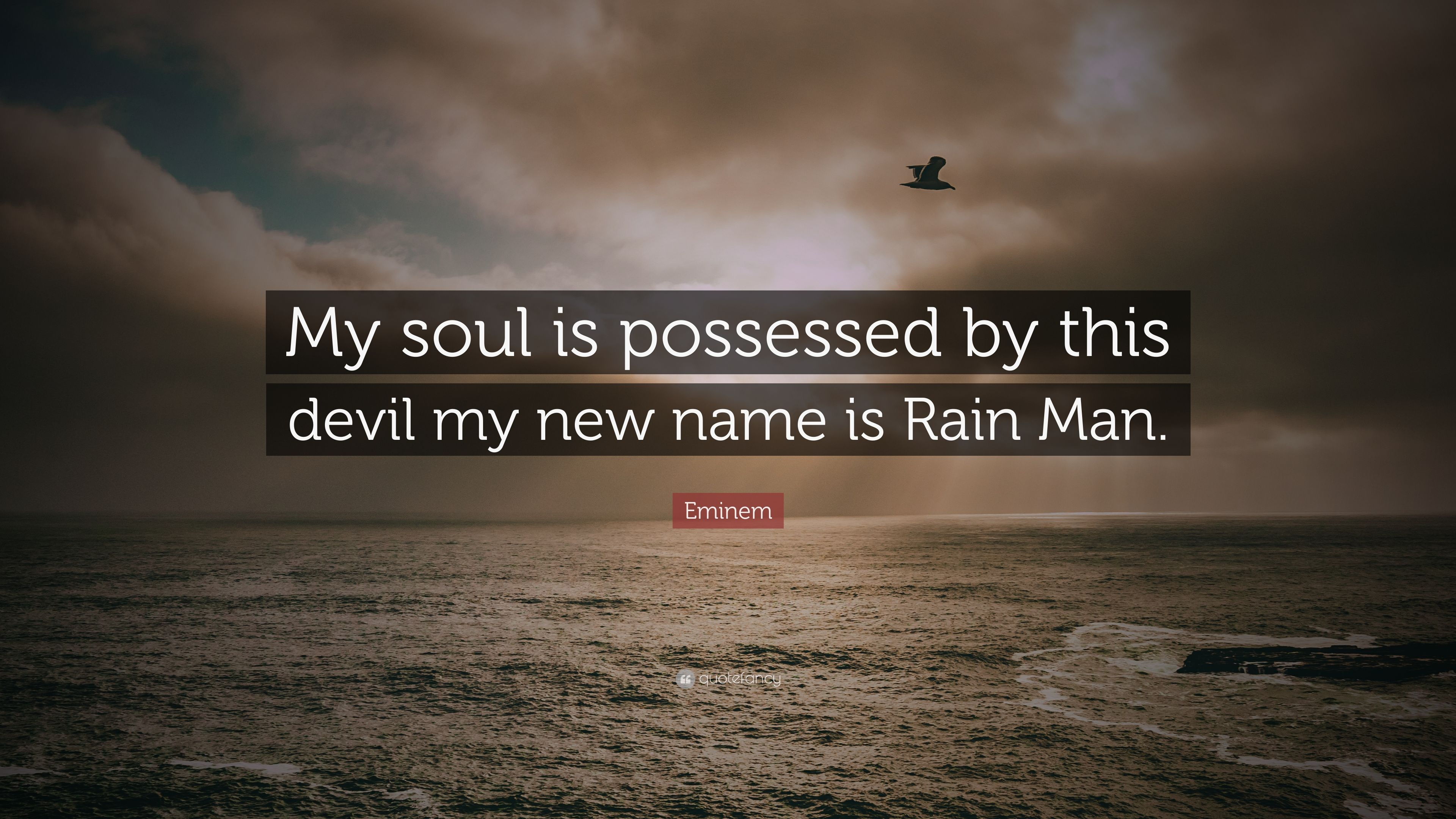 Eminem Quote My Soul Is Possessed By This Devil My New Name Is Rain Man 7 Wallpapers Quotefancy