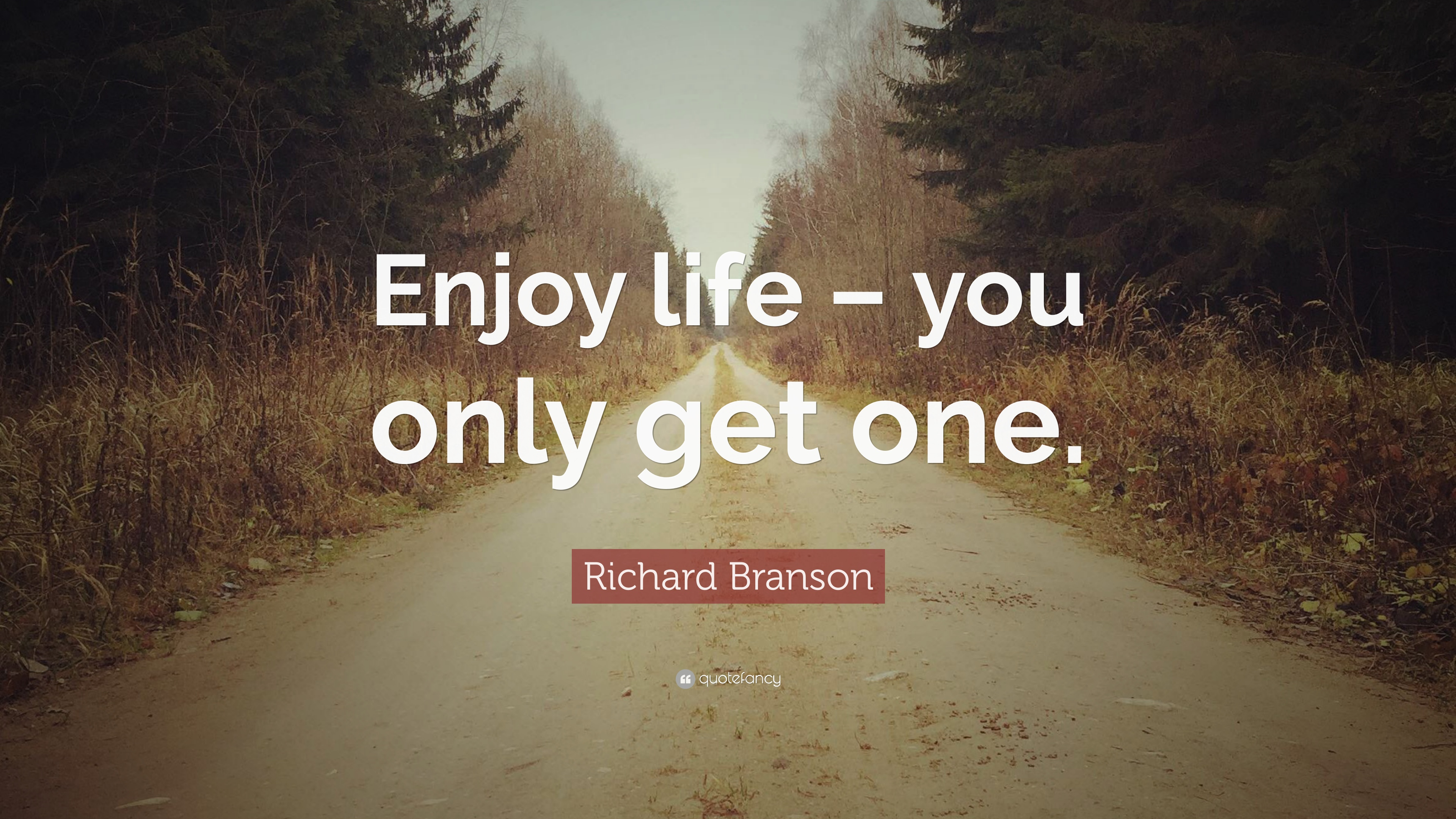 Richard Branson Quote Enjoy Life You Only Get One 12