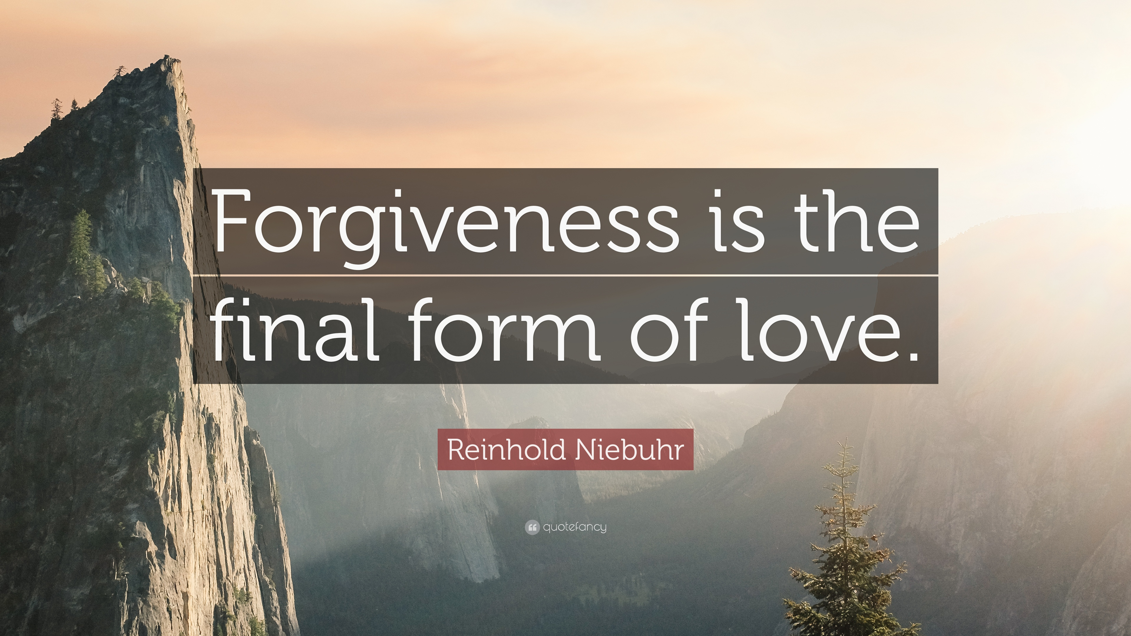 "Love And Forgiveness Quotes Reinhold Niebuhr Quote ""Forgiveness Is The Final Form Of Love"