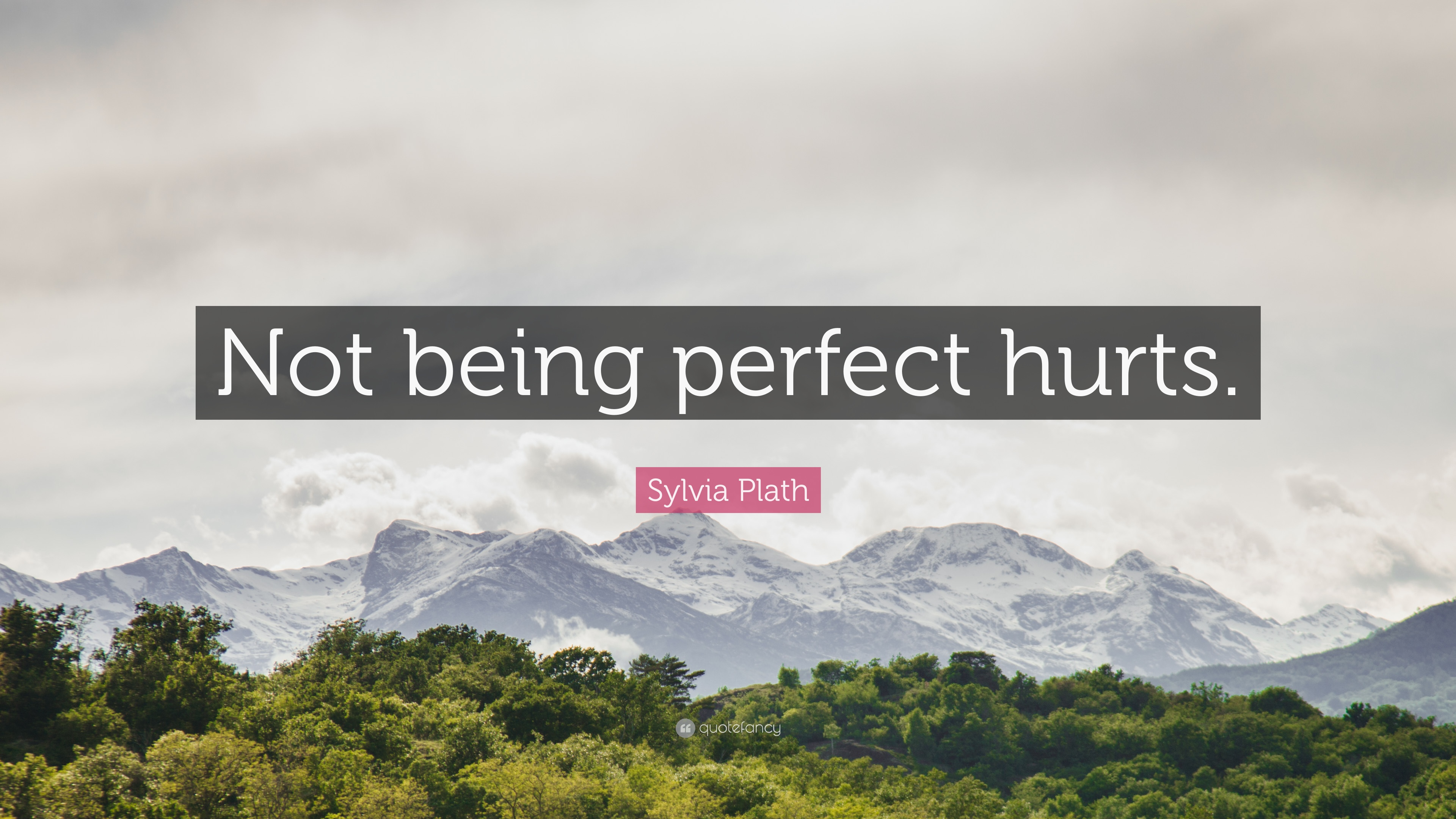 Sylvia Plath Quote Not Being Perfect Hurts 12 Wallpapers