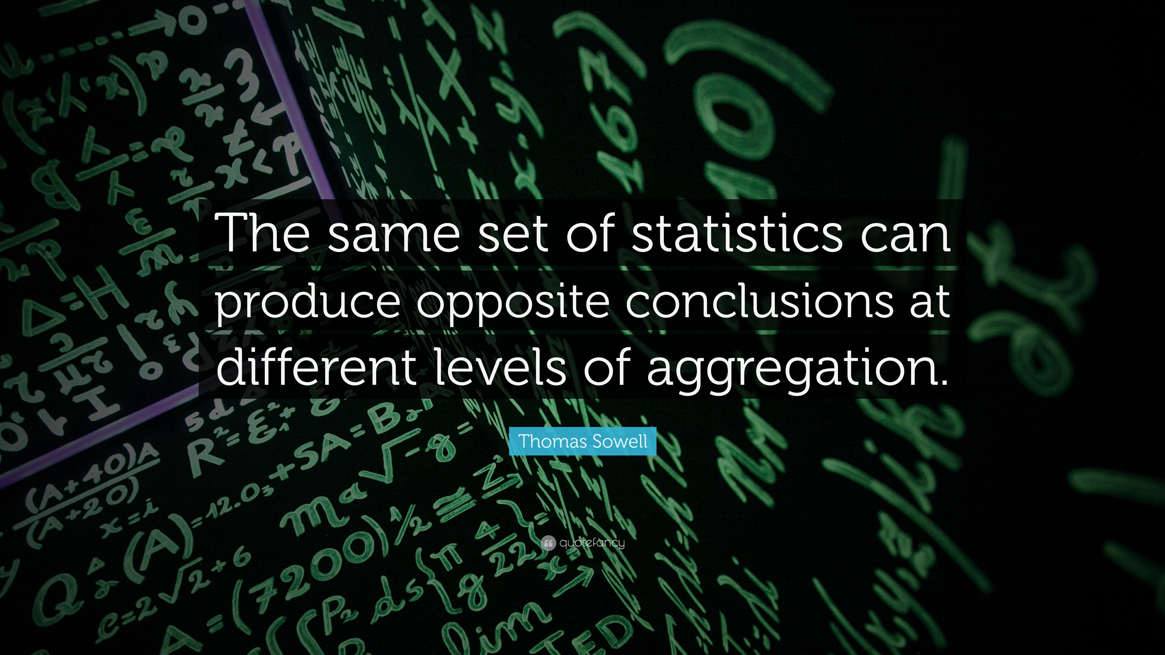 Thomas Sowell Quote The Same Set Of Statistics Can Produce