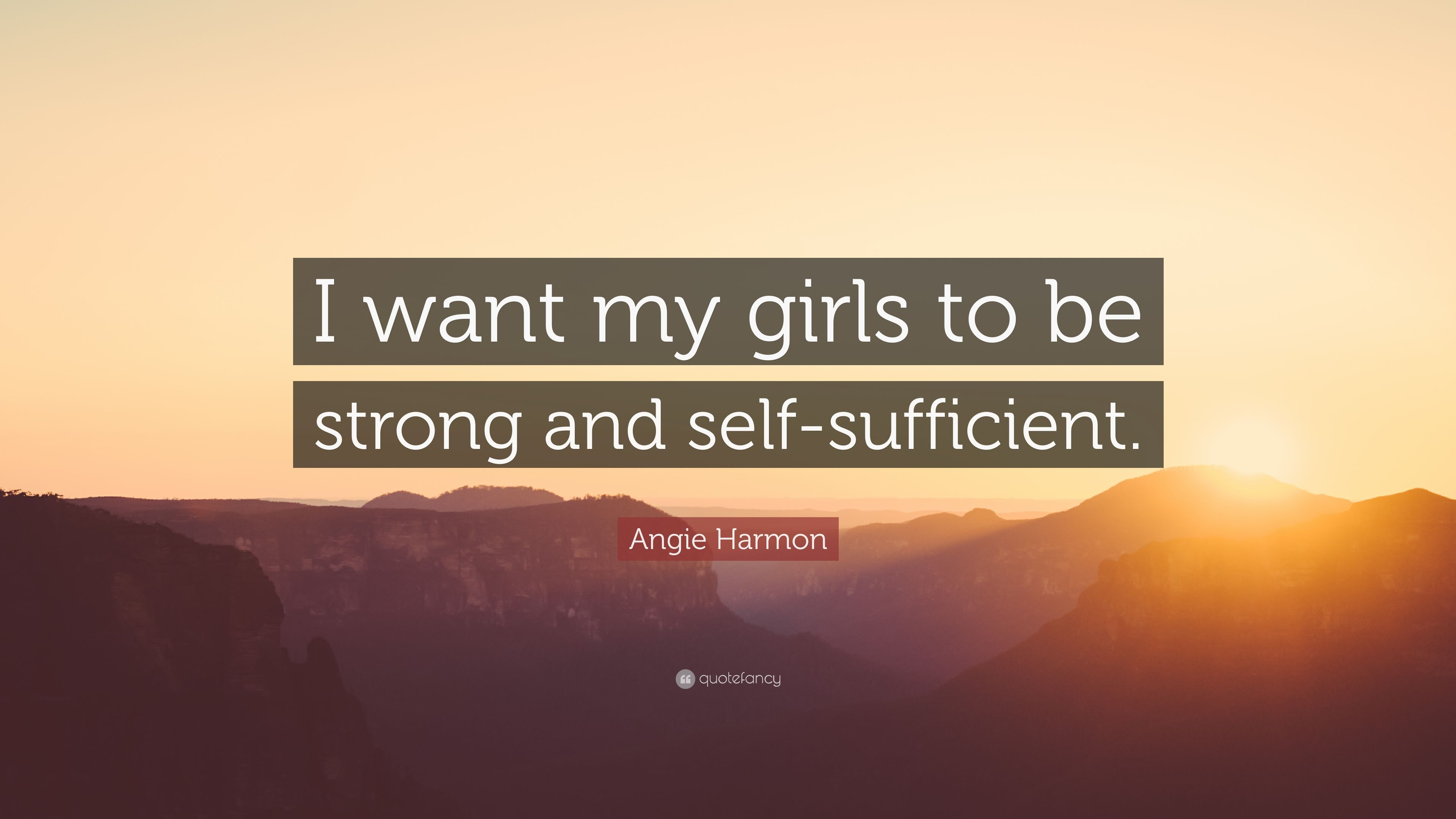 i want to be self sufficient